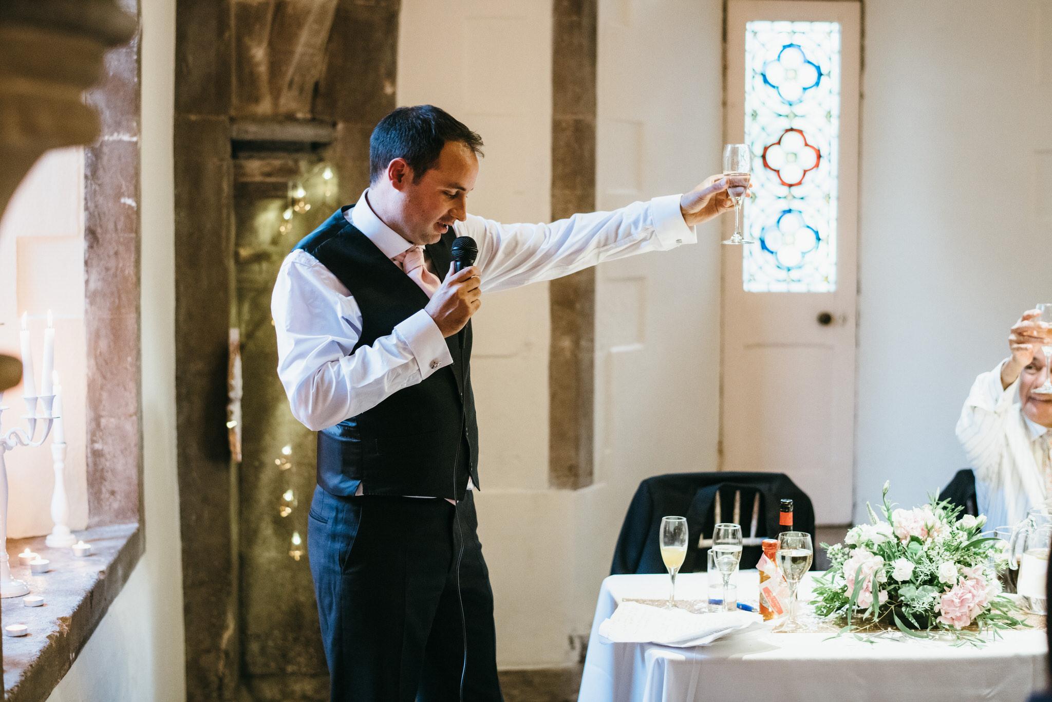 Best man speech at Bishops Palace wedding