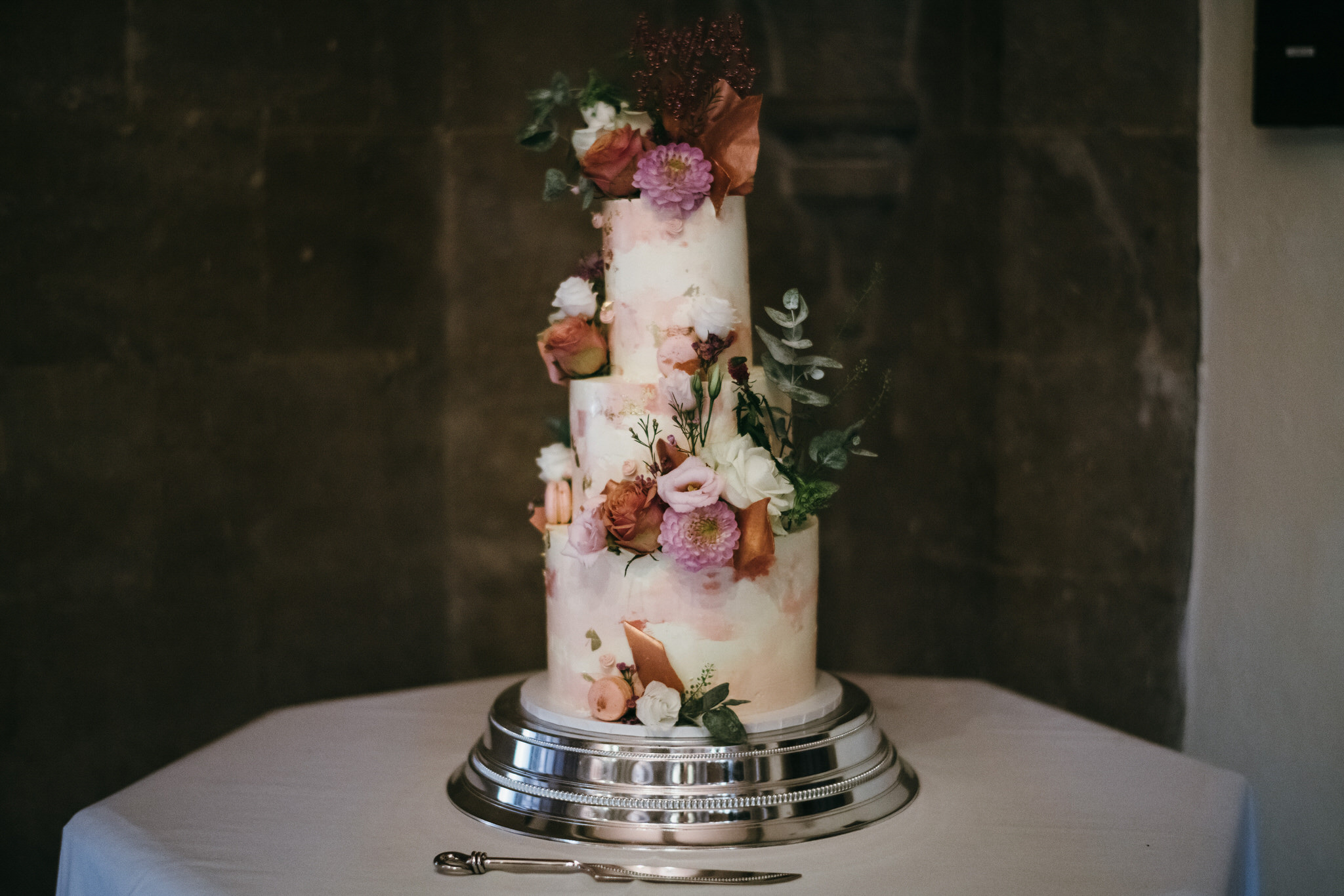 Tiered wedding Cake by The Macaroom