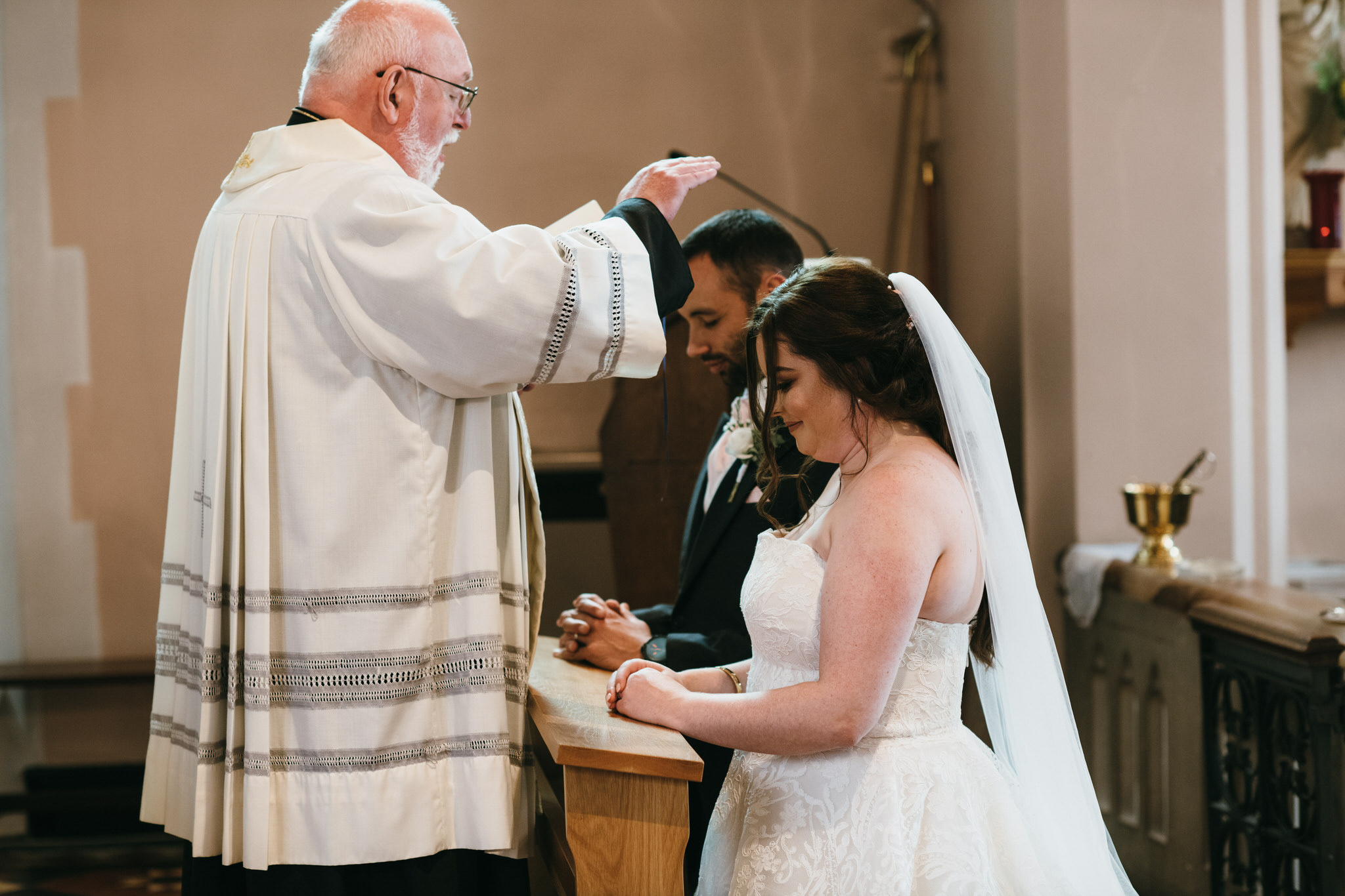 Vicar marries couple at St Joseph and St Teresa Church Wells