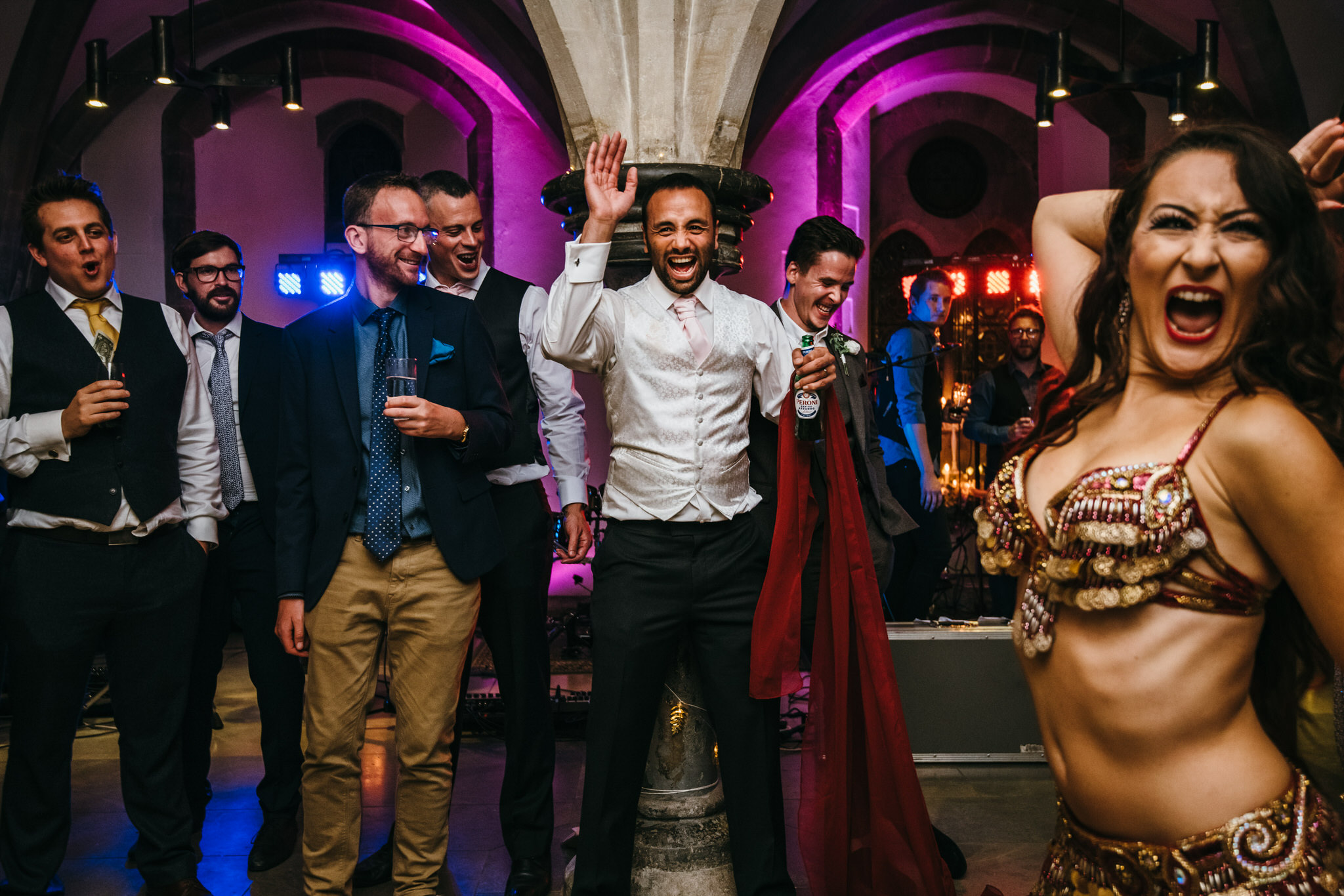 Tevec Belly dancing at Bishops palace wedding