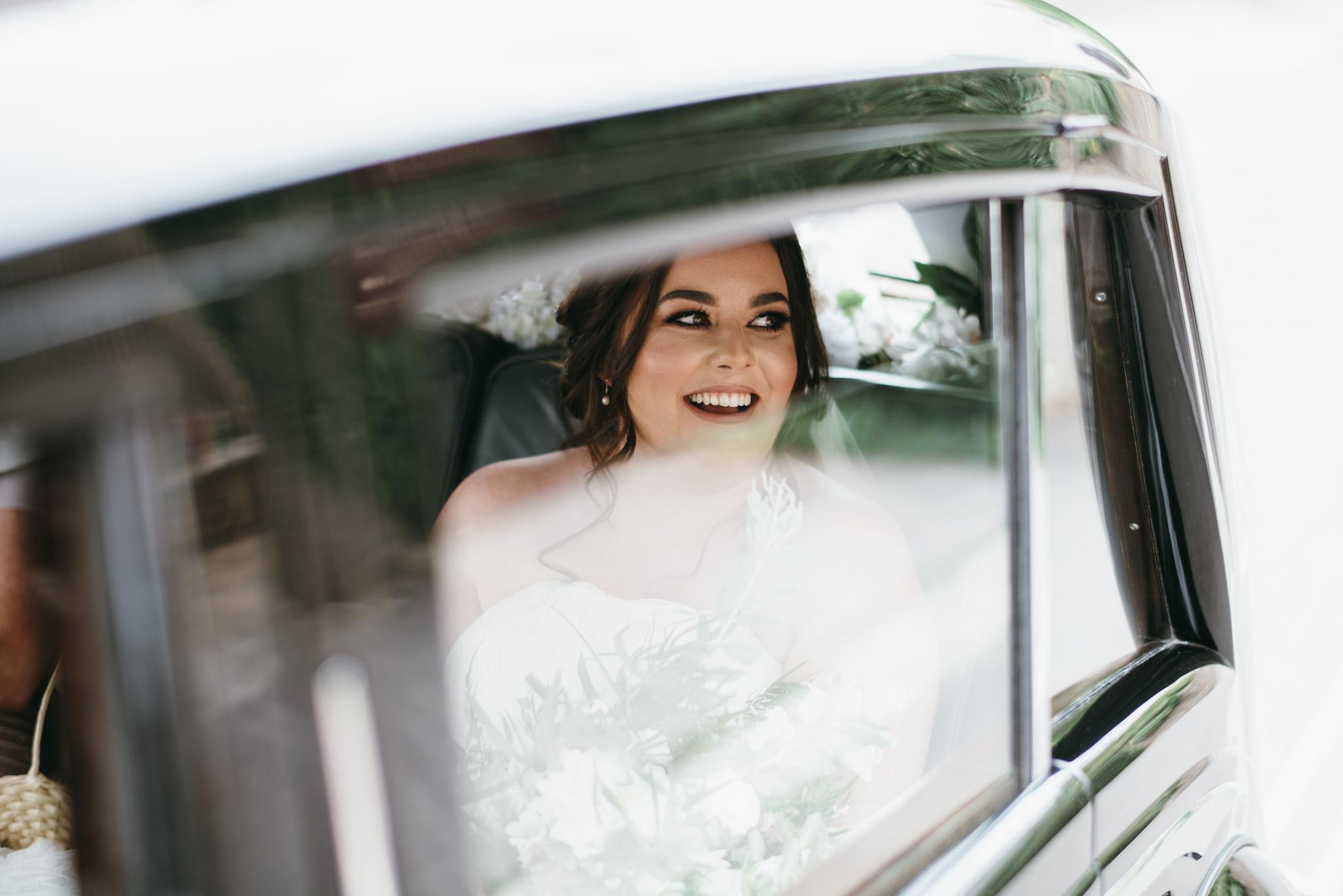 De Gournay car arrives with bride in Wells
