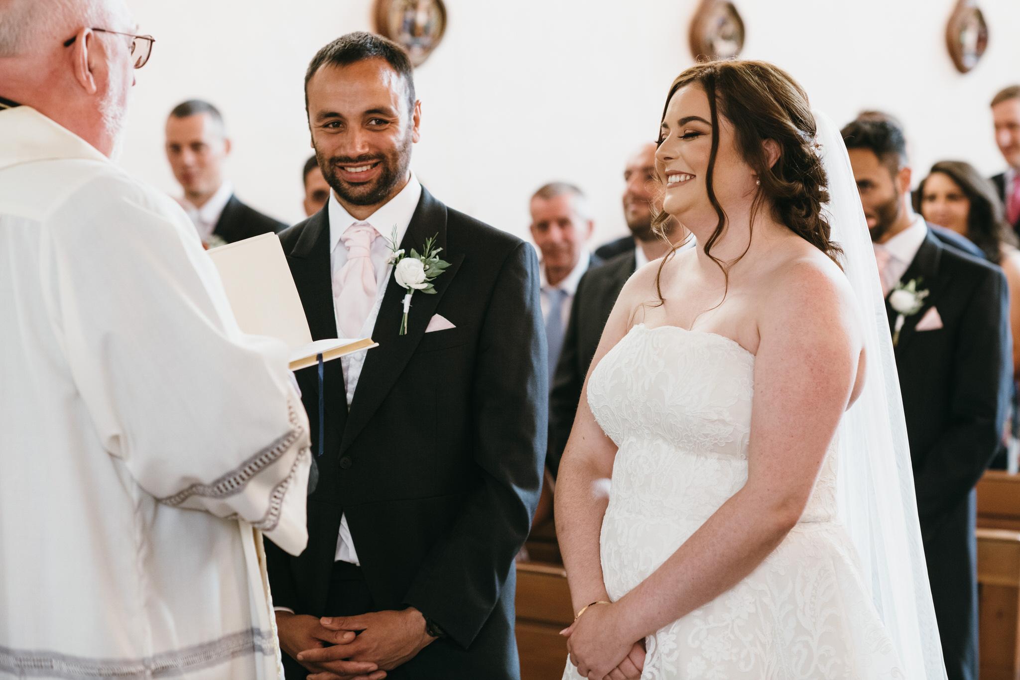 St Joseph and St Teresa Church Wells wedding ceremony