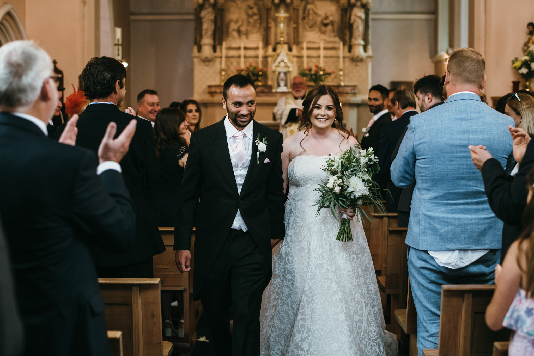 Just married at St Joseph and St Teresa Church Wells