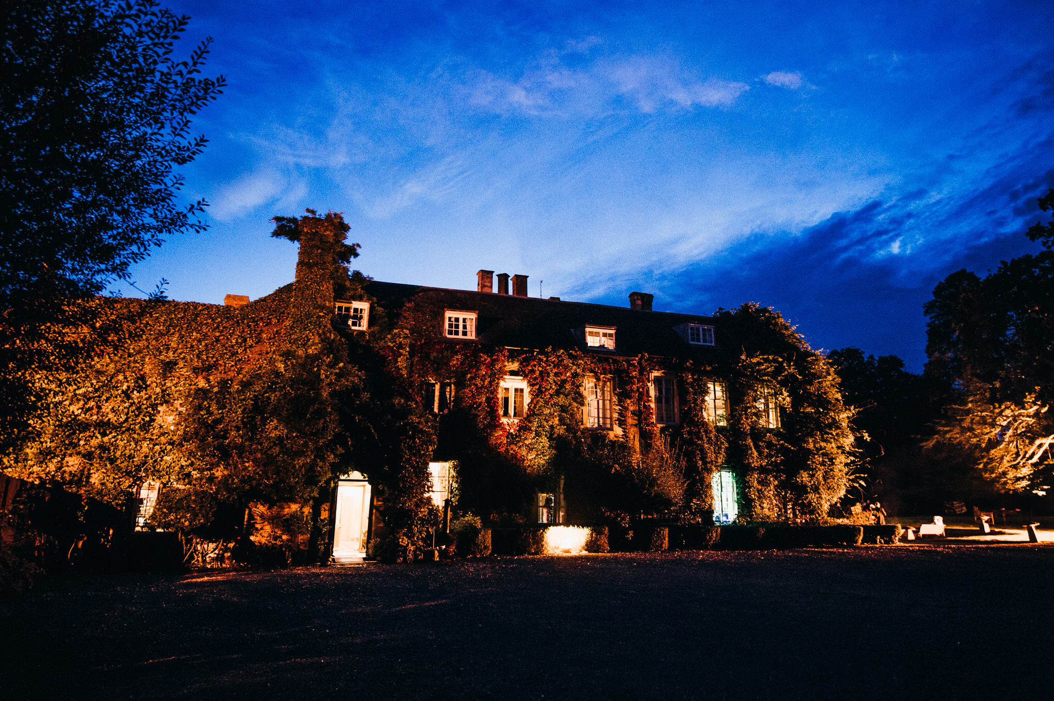 Nightime at maunsel house somerset