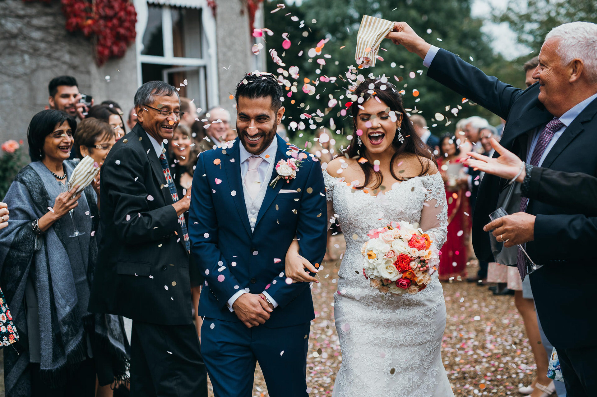 Confetti at Pennard house wedding