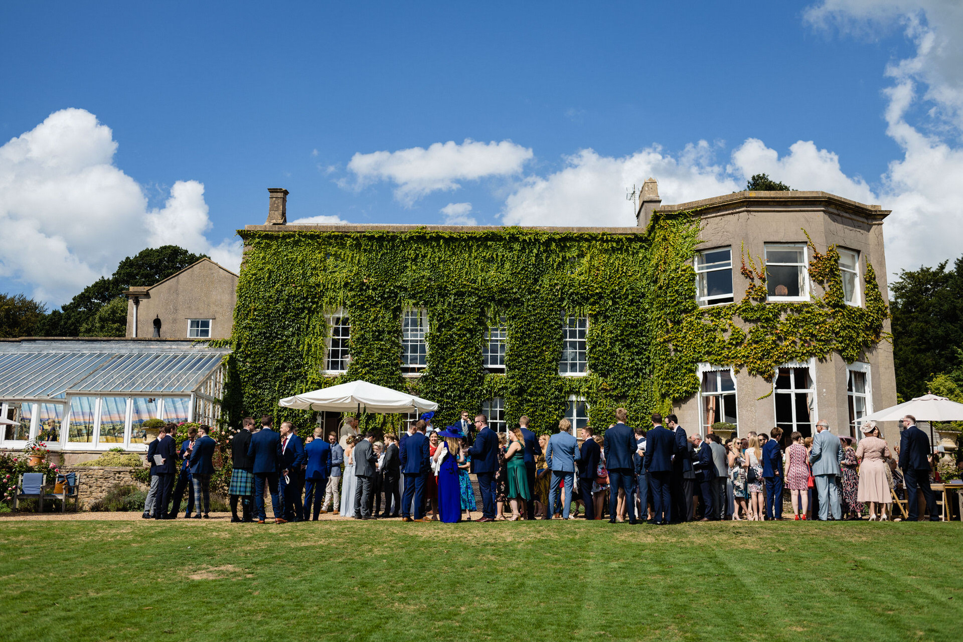 Pennard house wedding reception on the terrace