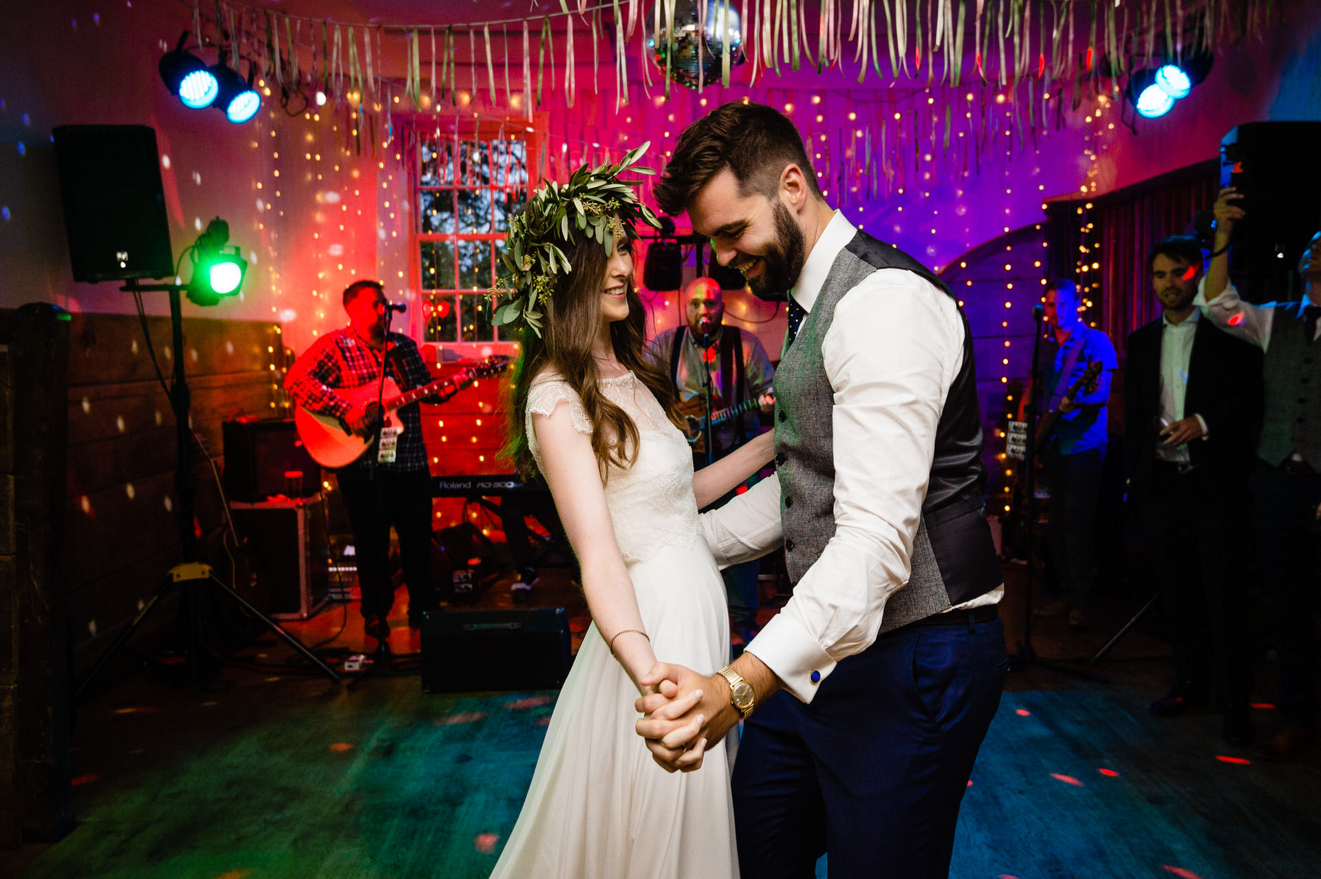 Pennard house wedding first dance in Coach House