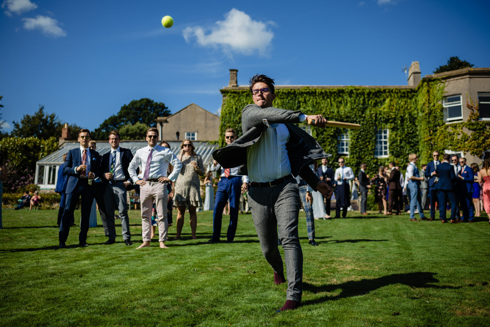 Wedding games at Pennard house Somerset