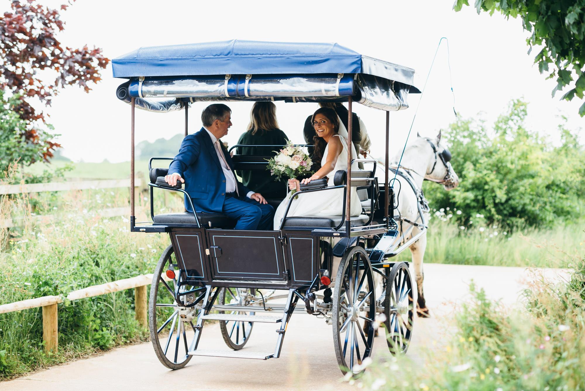 Soho farmhouse horse and cart