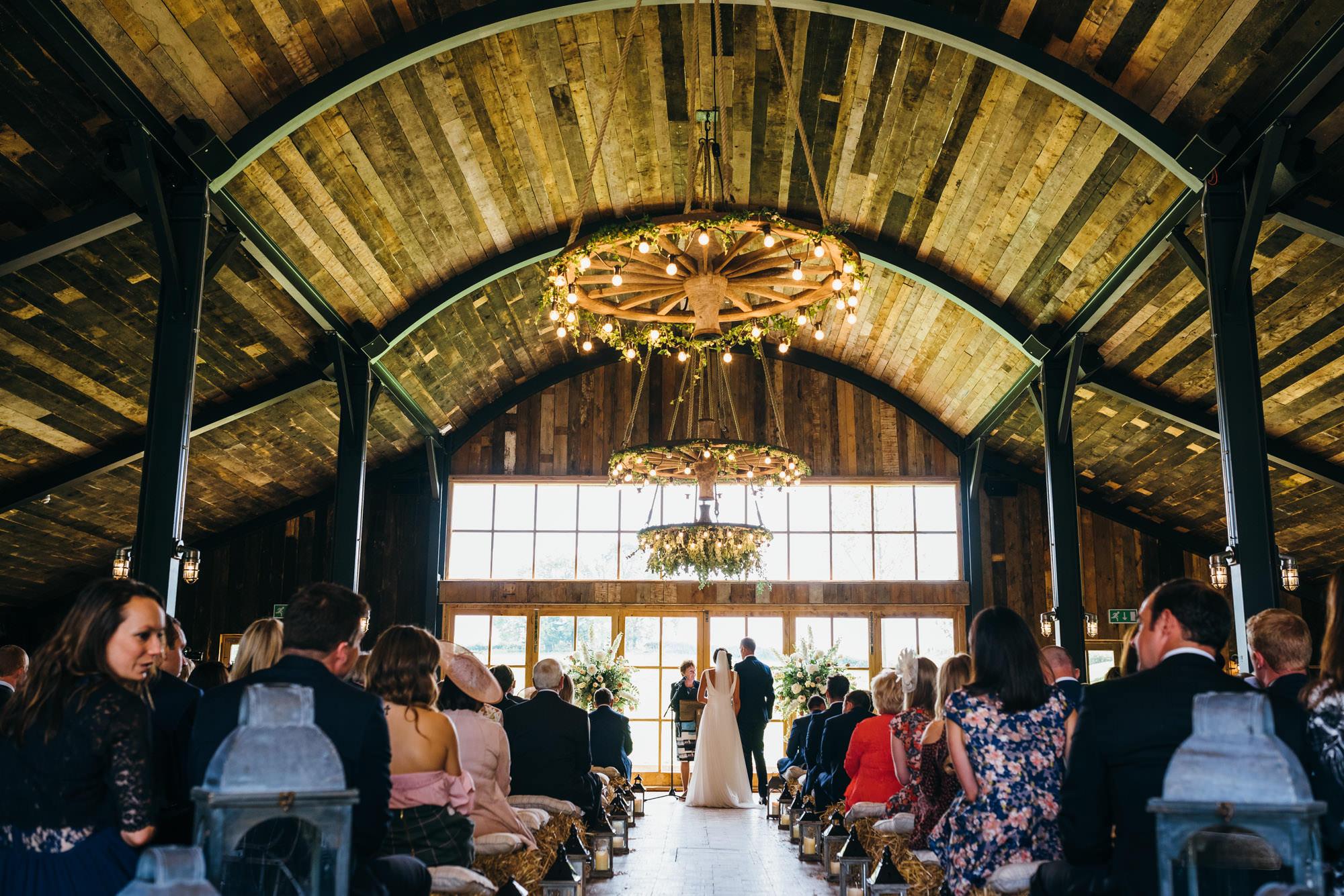 wedding ceremony at Soho farmhouse