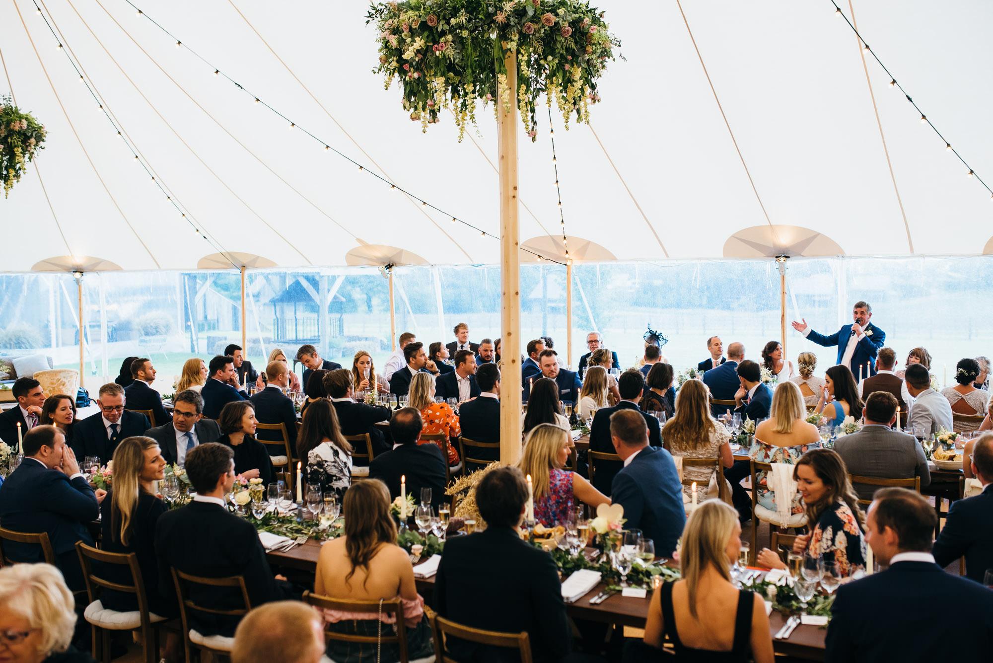 Soho farmhouse marquee wedding