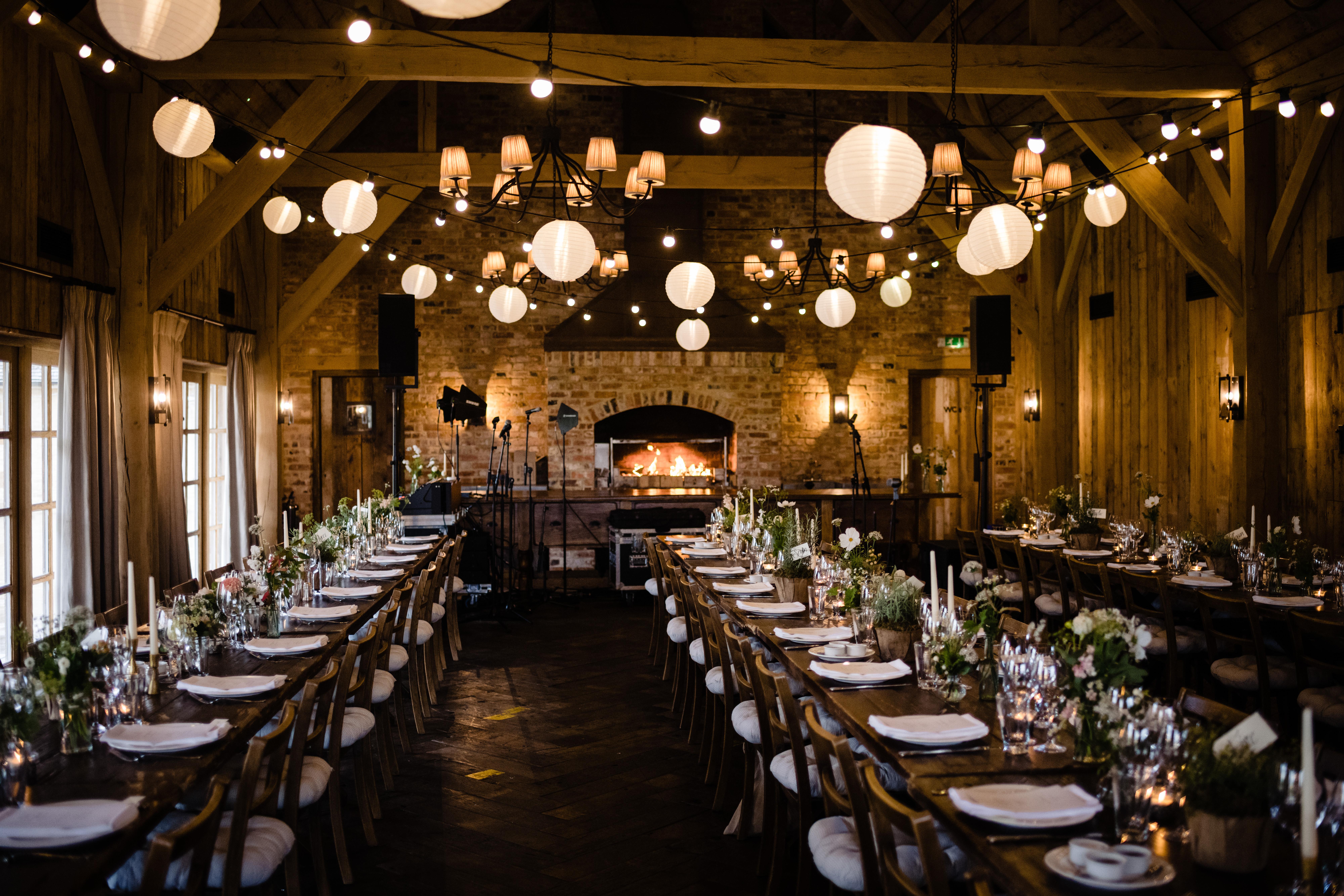 Wedding breakfast in the Hay Barn