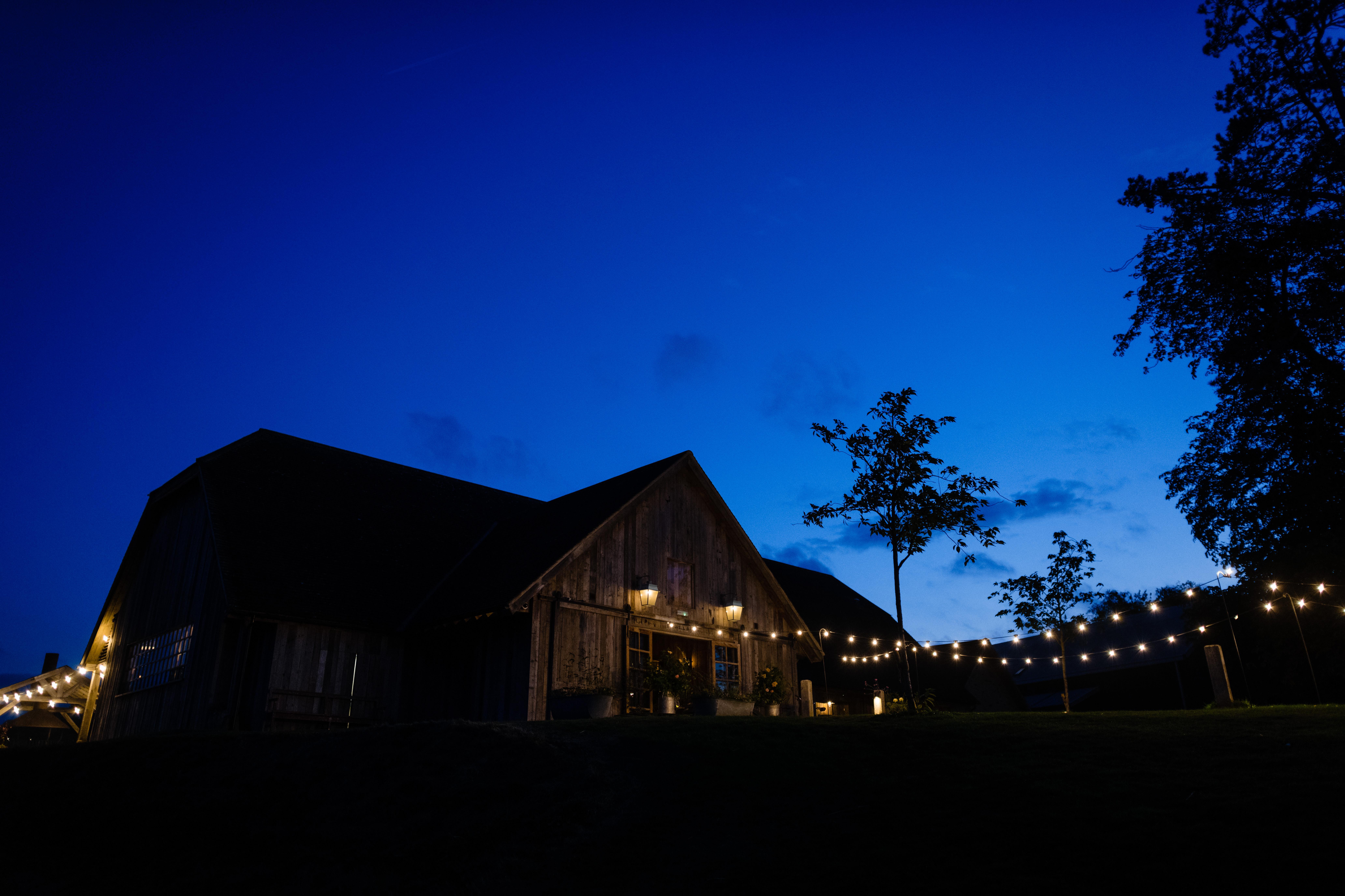 Soho farmhouse at night