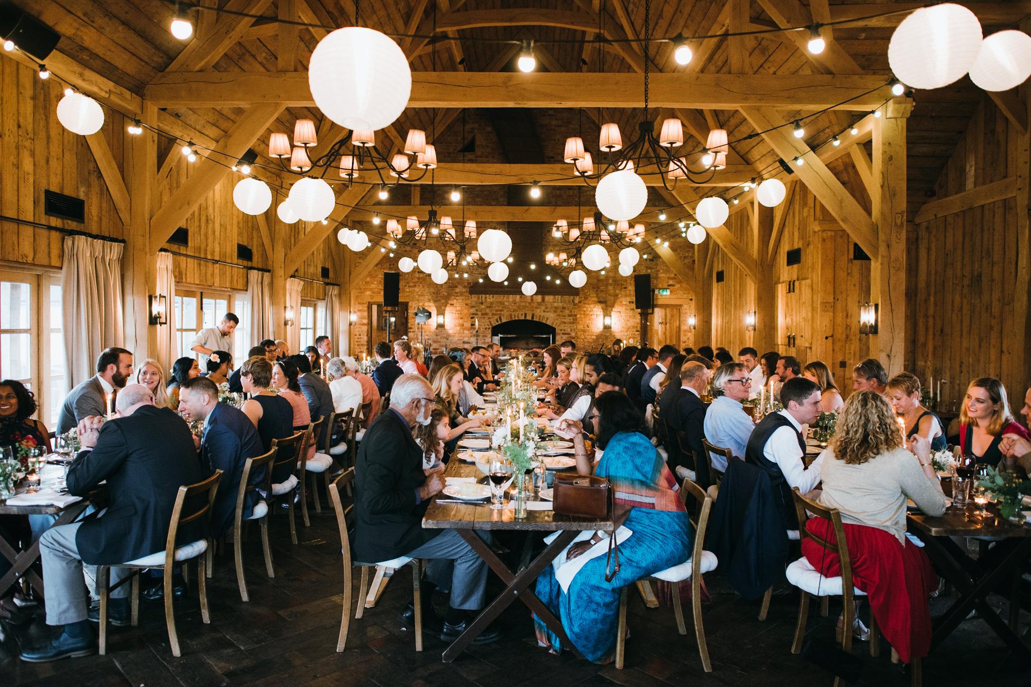 Soho farmhouse wedding breakfast