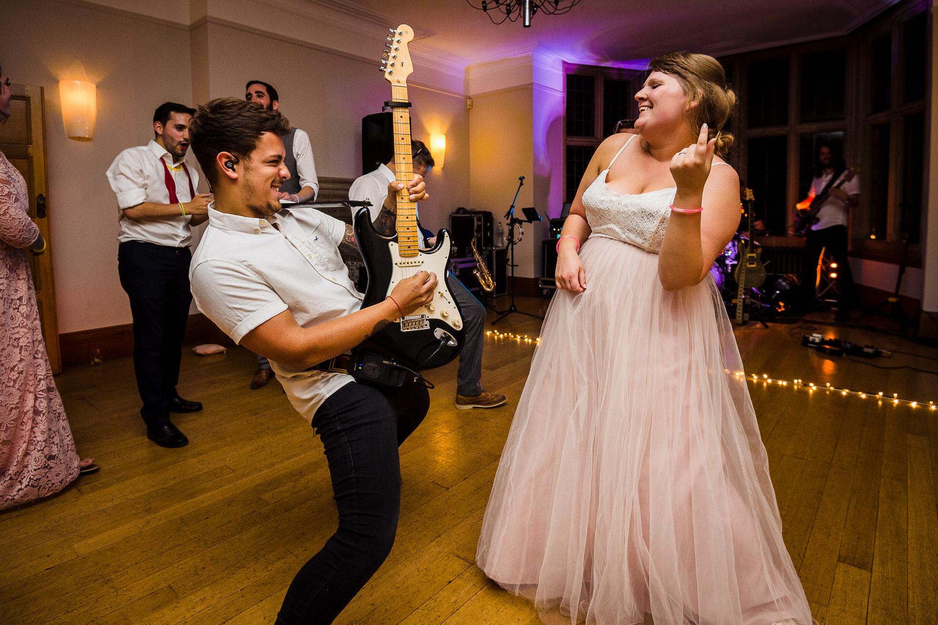 The salvation band at wedding