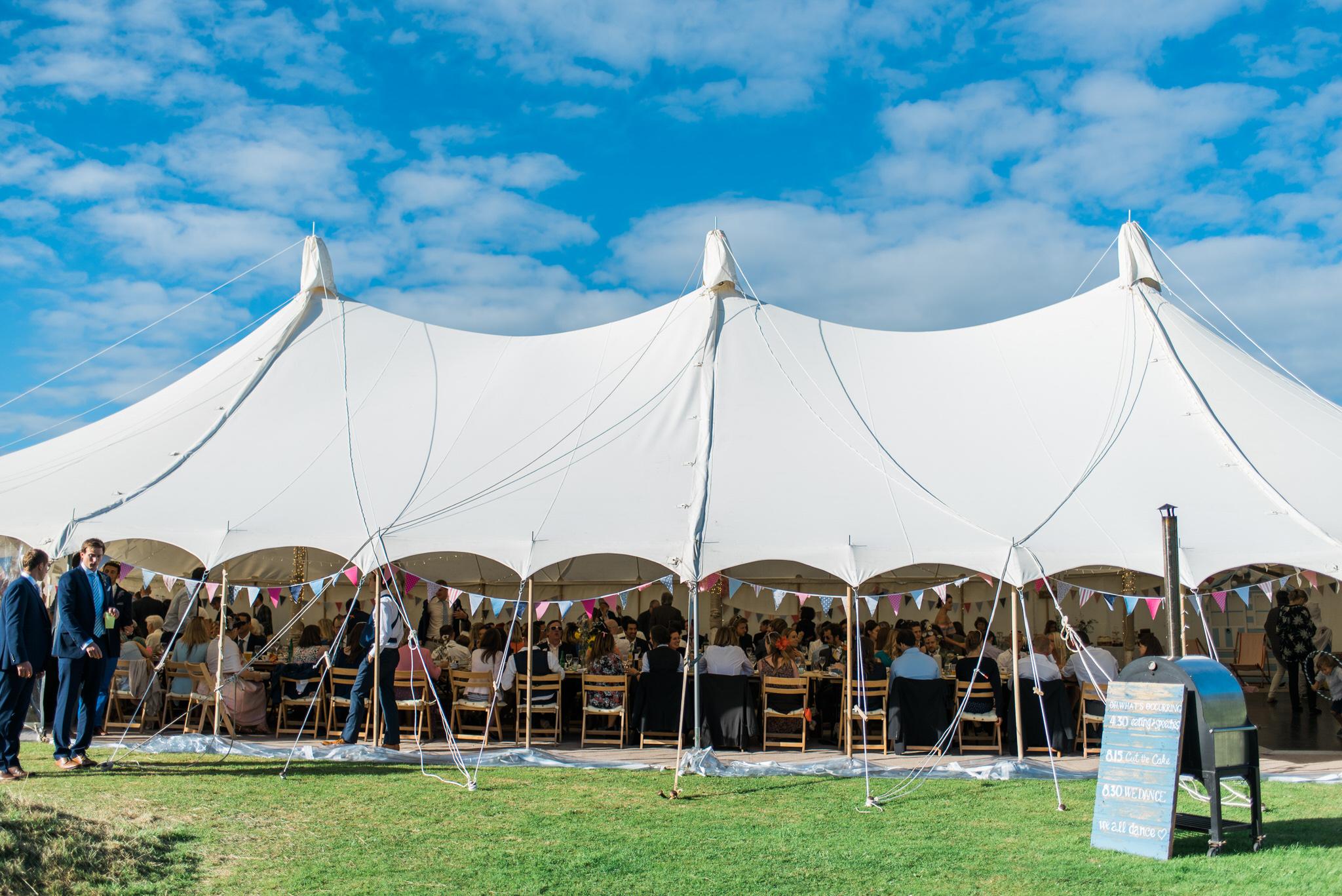 Salcombe devon marquee wedding by simon biffen photography 29