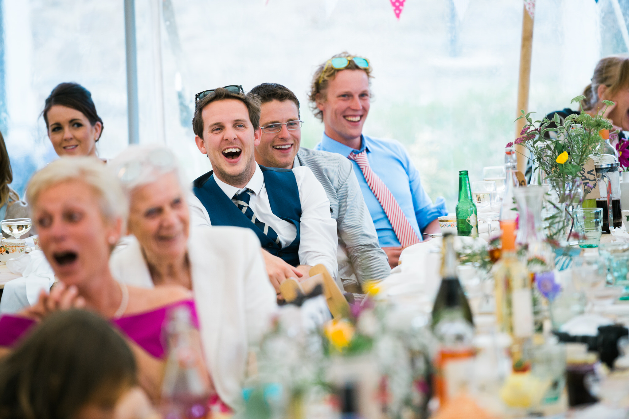 Salcombe devon marquee wedding by simon biffen photography 37
