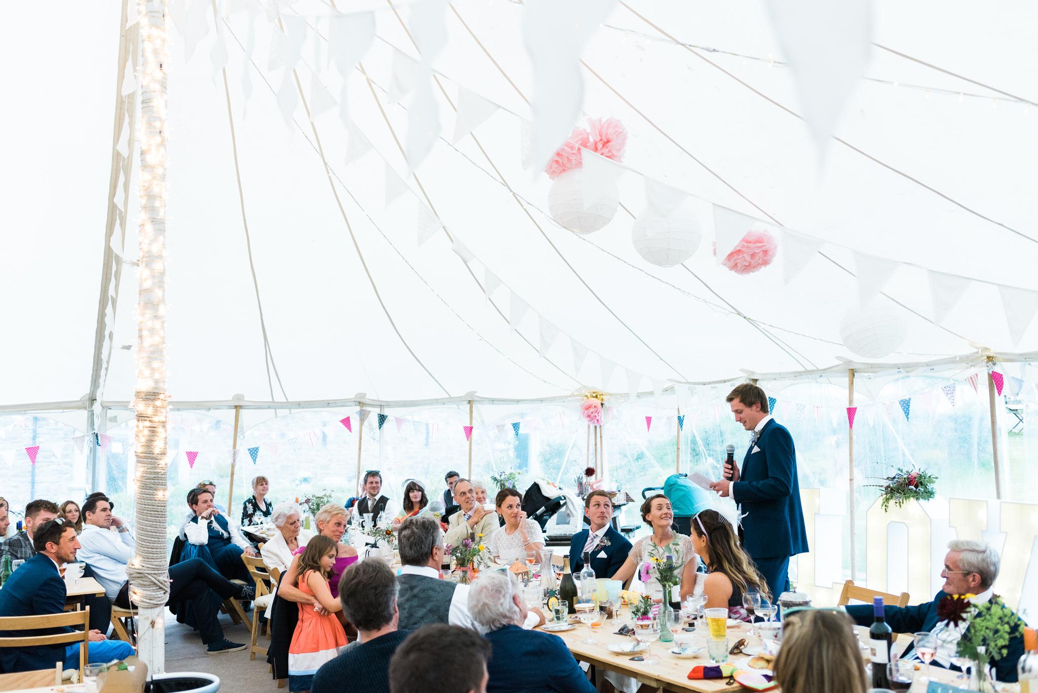 Salcombe devon marquee wedding by simon biffen photography 38