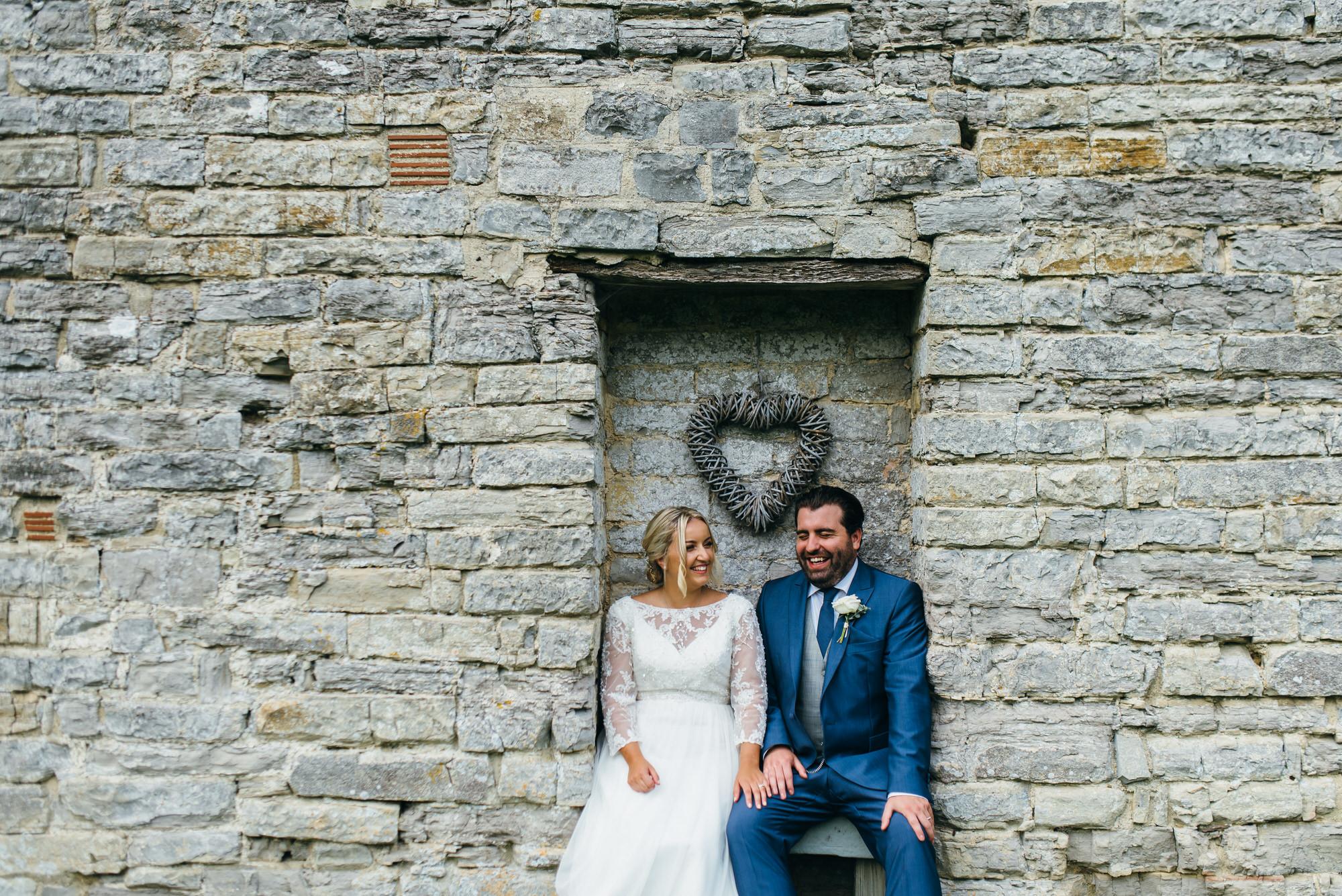 Newlyweds at Almonry barn wedding