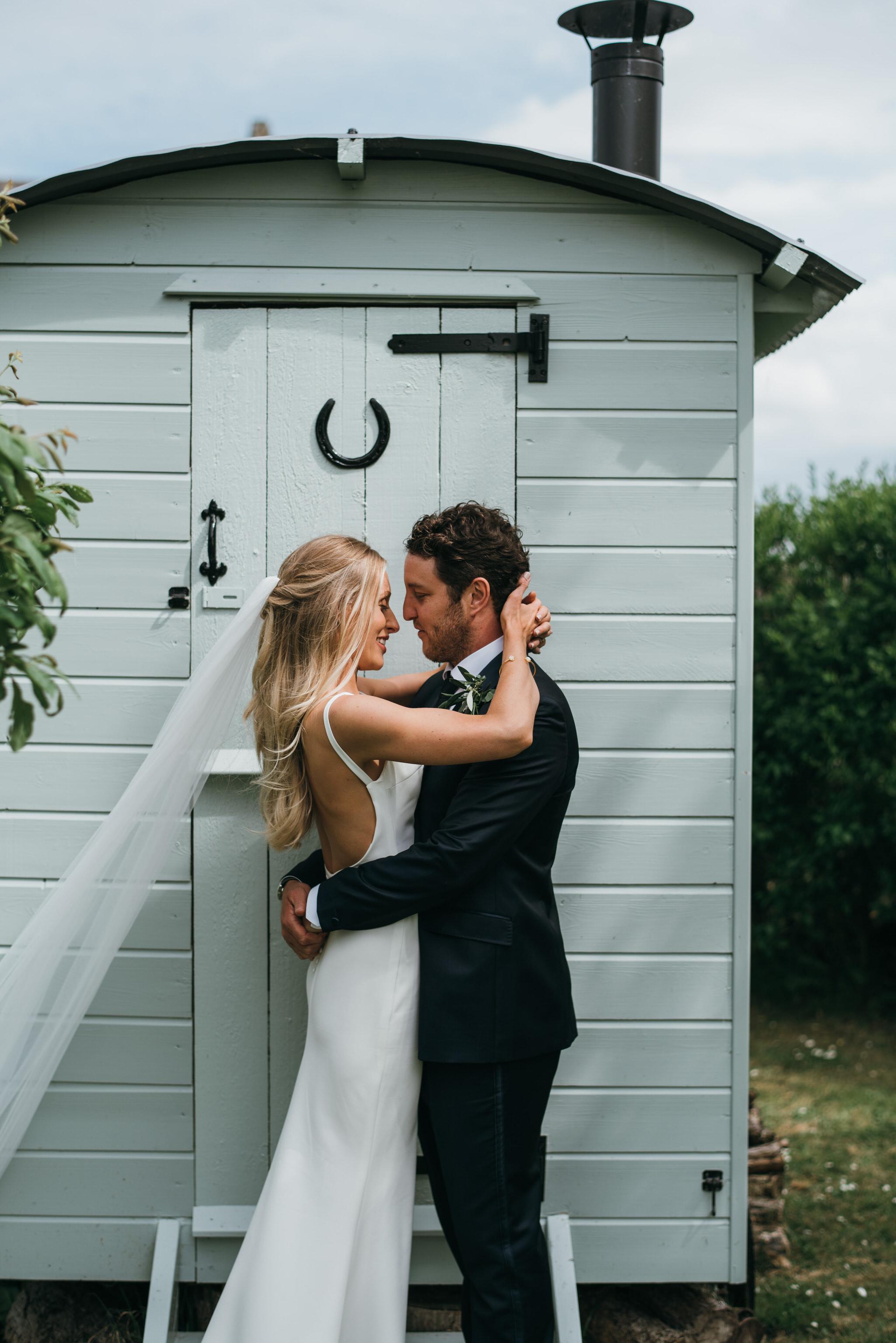 Bride and Groom, Almonry barn wedding