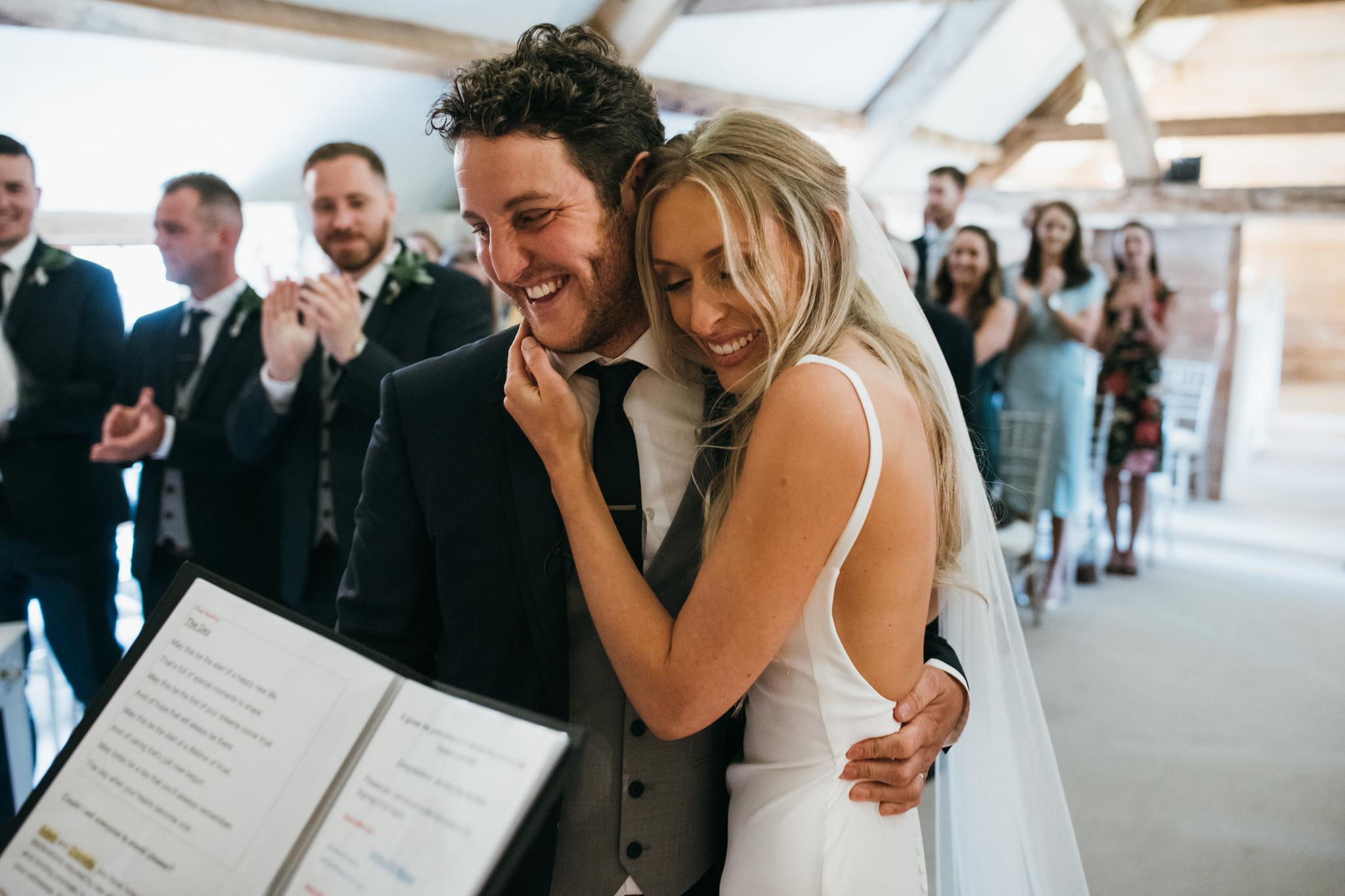 Almonry barn wedding ceremony