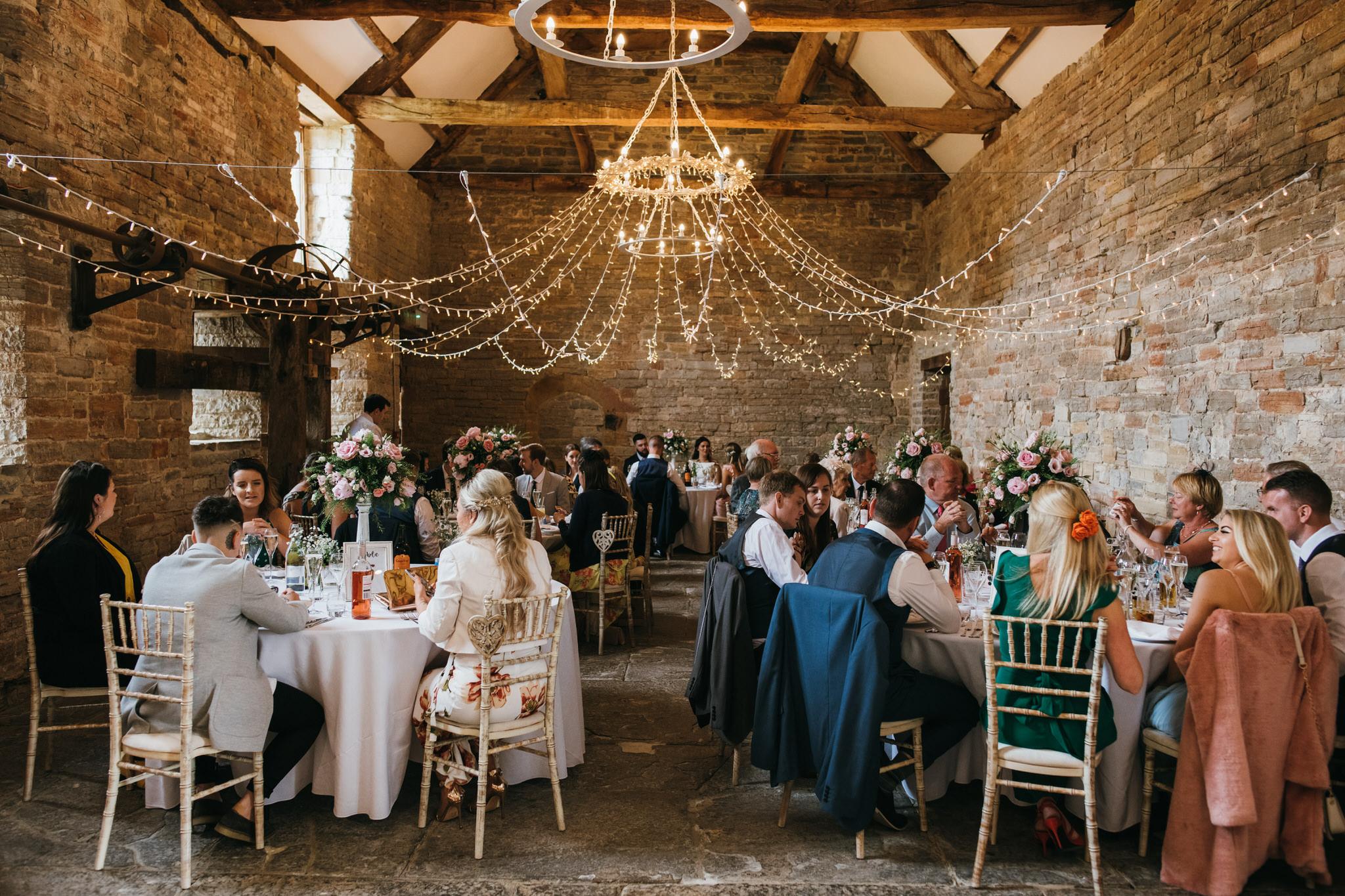 Almonry barn wedding breakfast