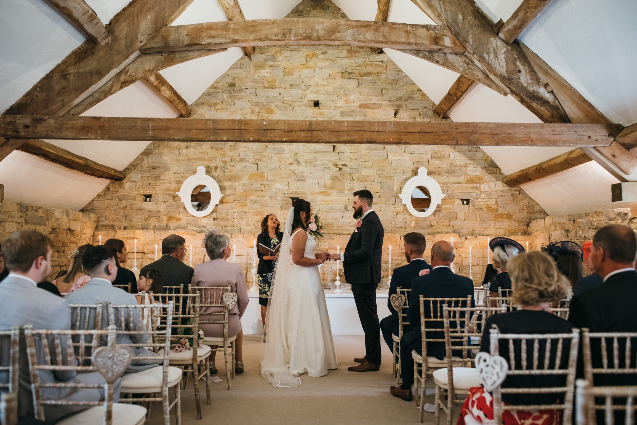 Ceremony at Almonry barn