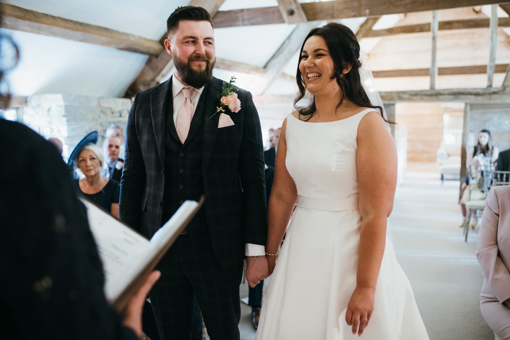 Almonry Barn wedding ceremony photography