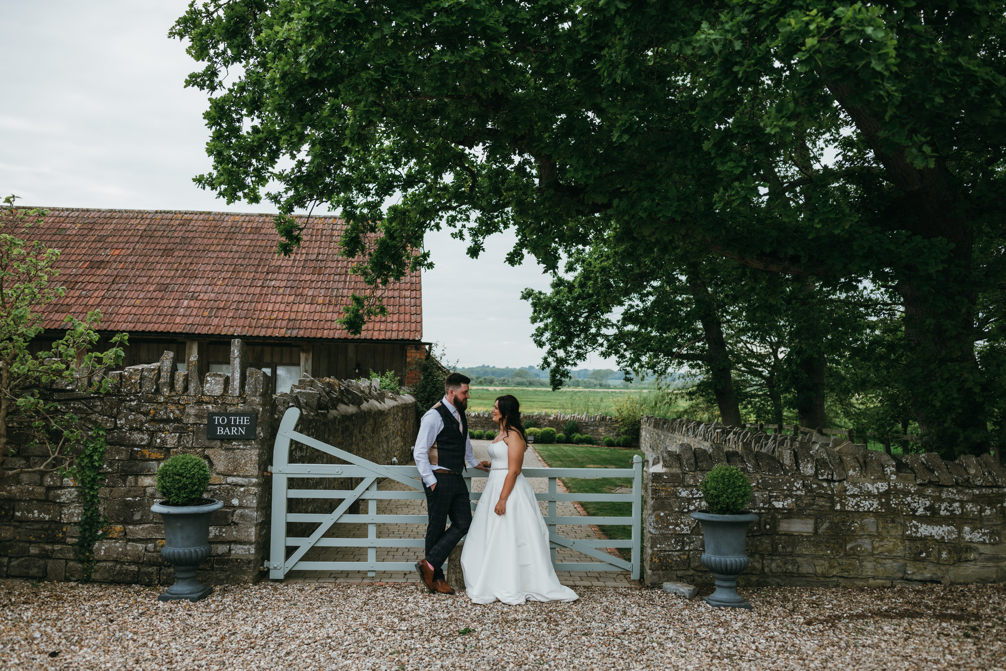 Couple outside Almonry Barn