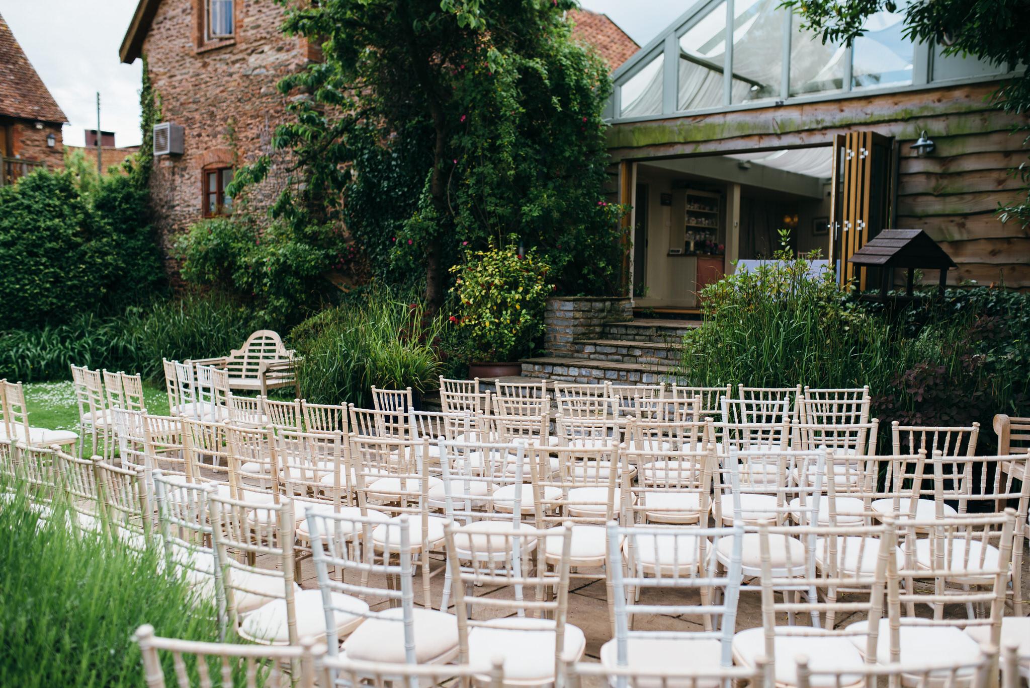 Huntstile organic farm weddings ceremony