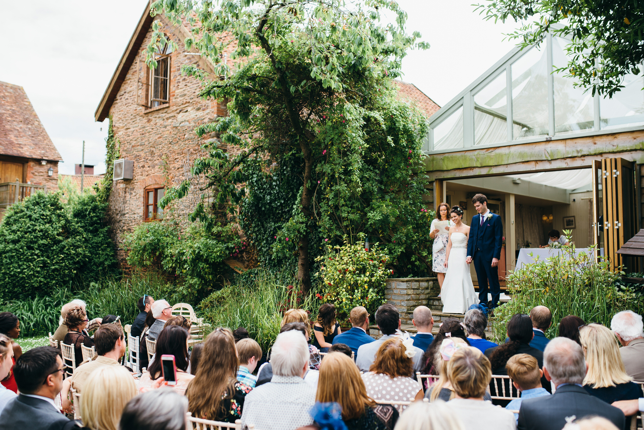 Huntstile organic farm outdoor ceremony