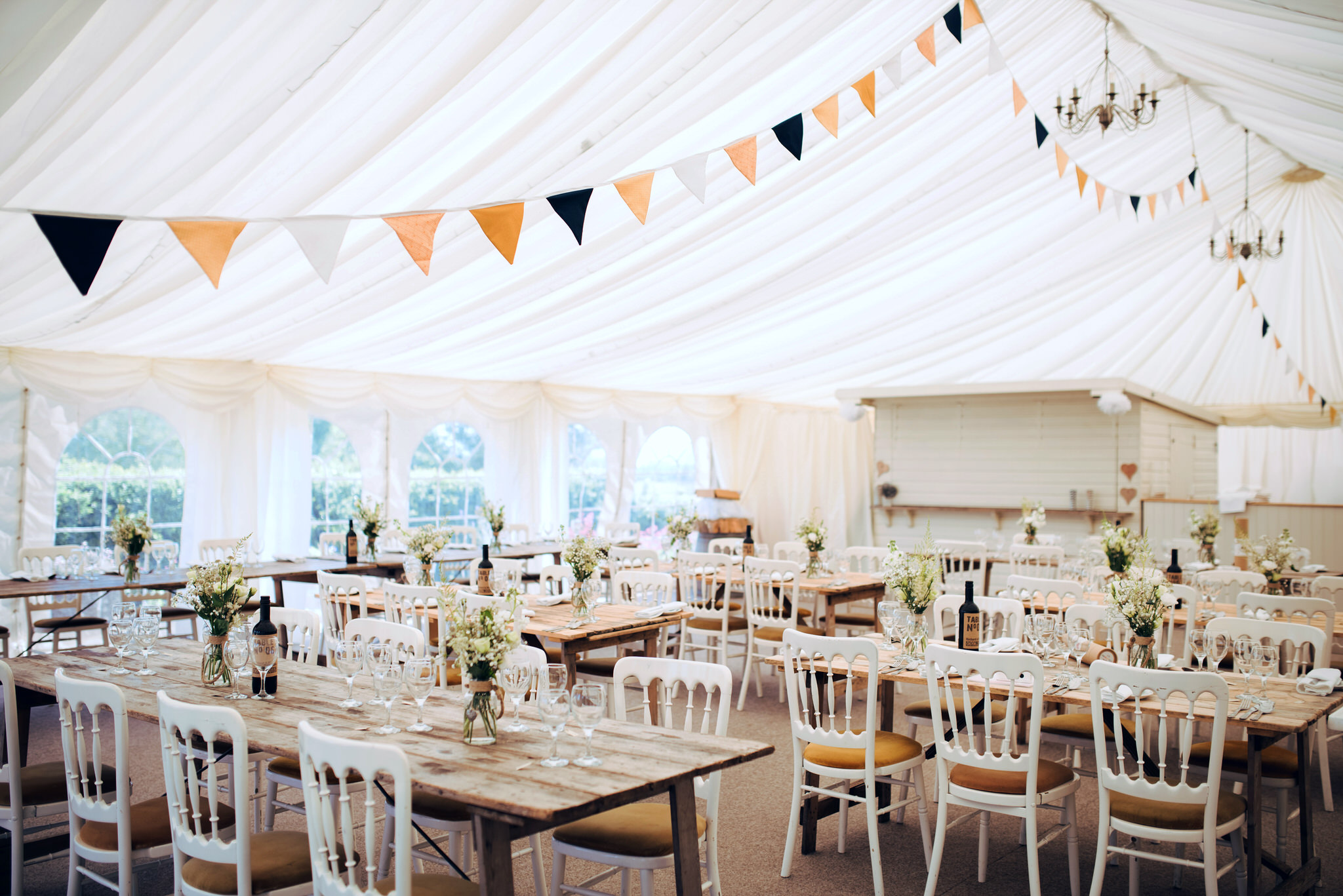 Huntstile organic farm wedding breakfast