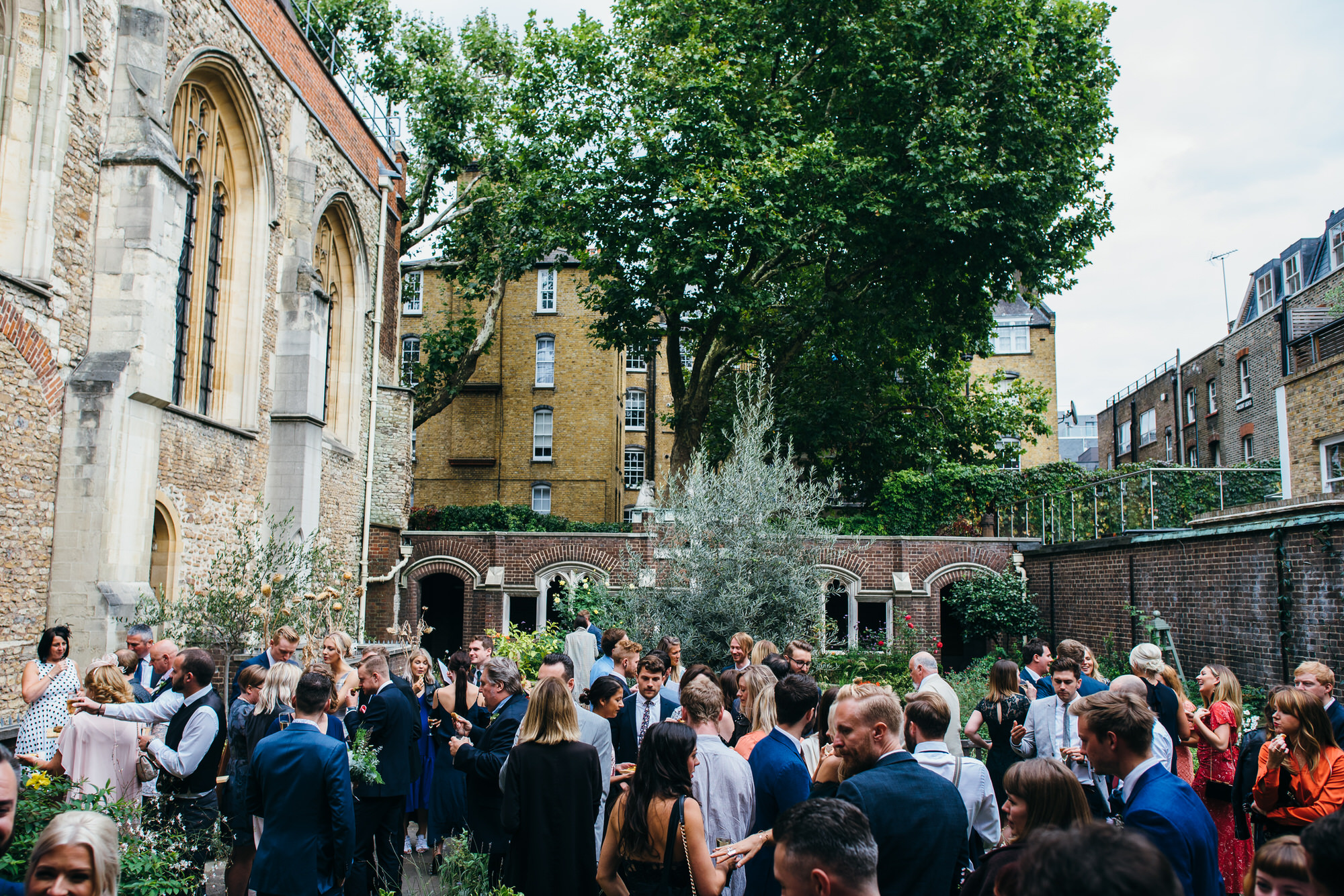 London wedding reception outside