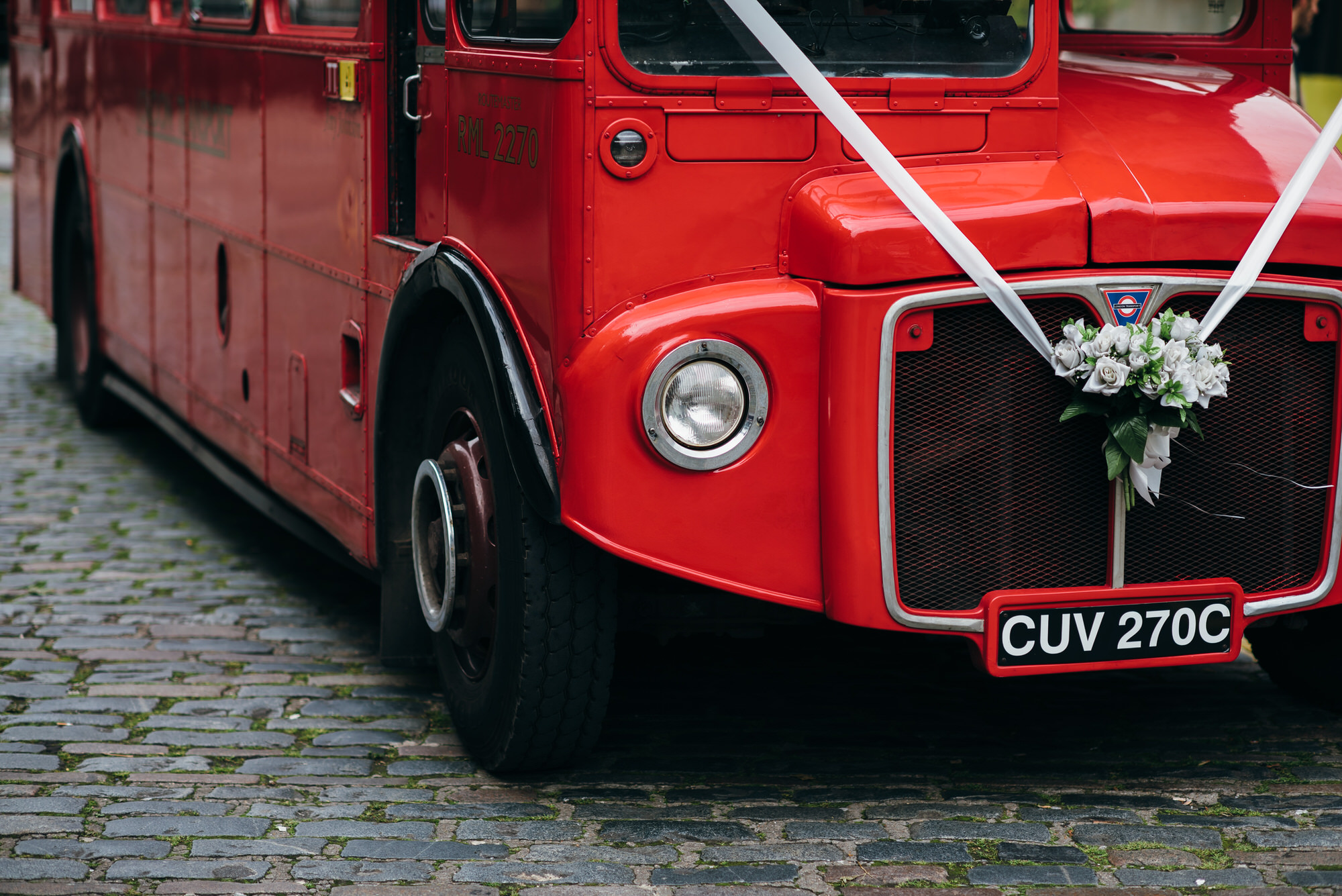 Routemaster bus London wedding