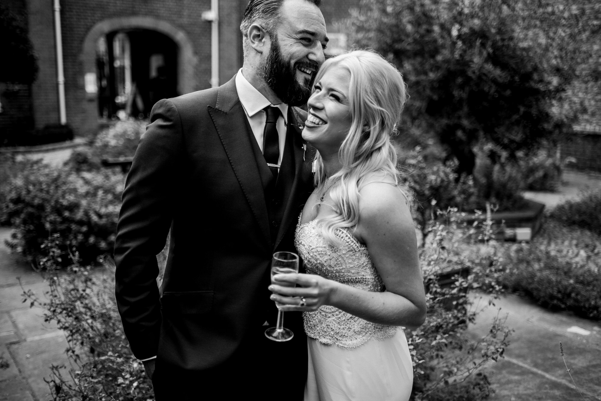 London wedding couple