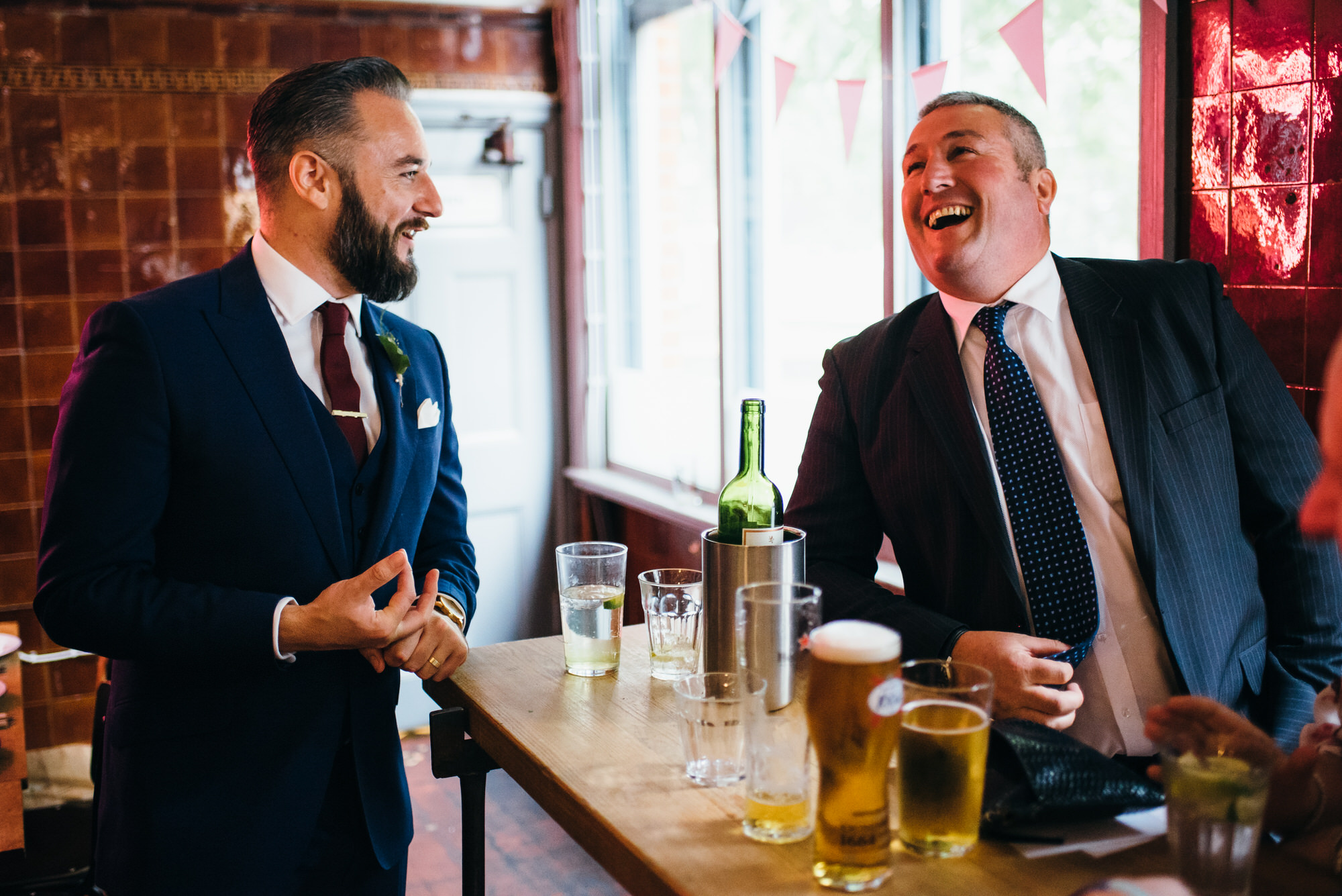 London pub wedding reception