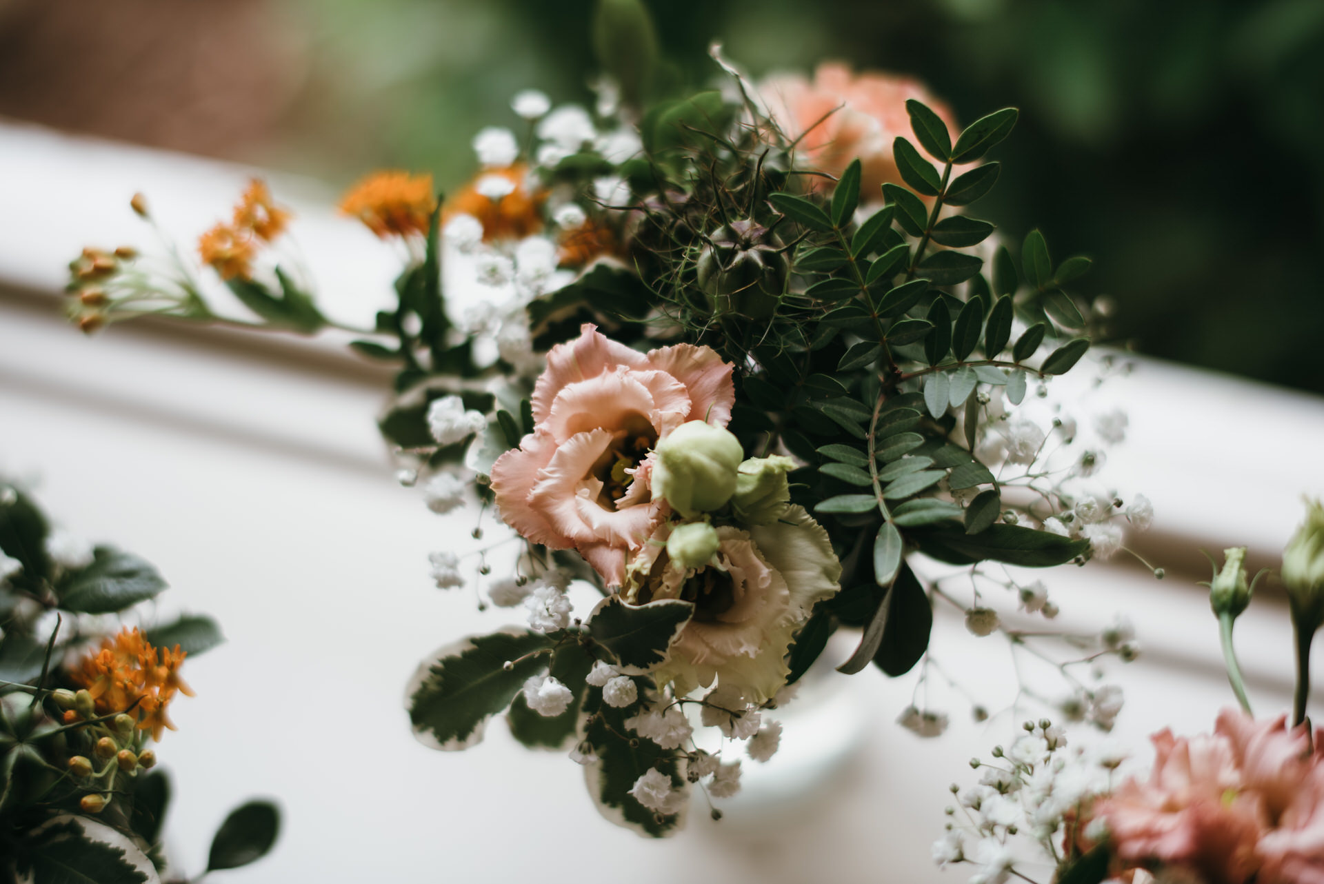 Wedding flowers for tables