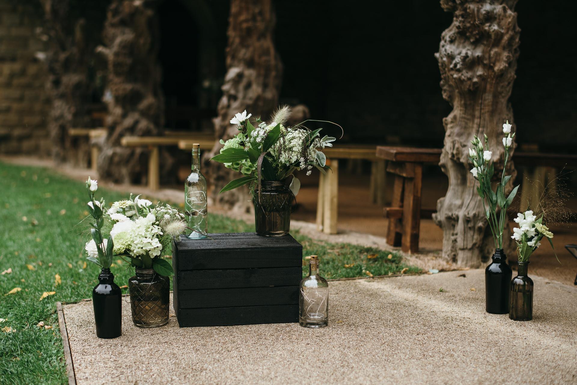 Wild flowers in vases