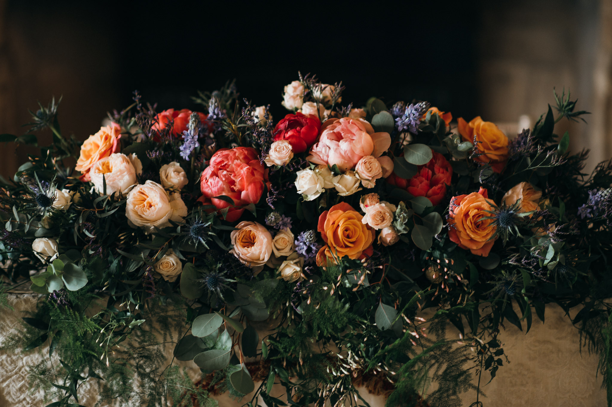 Colour wedding flowers
