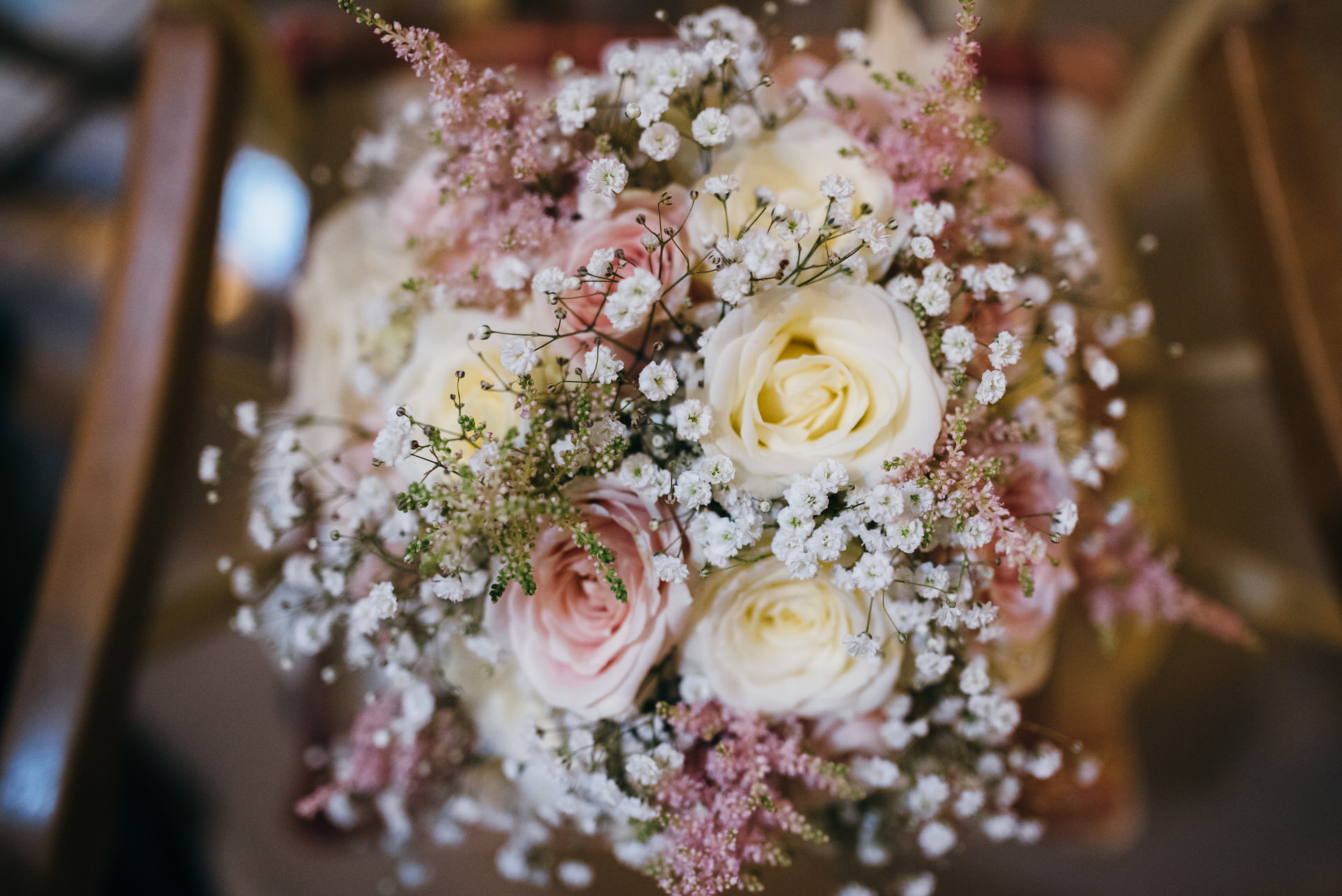 Wedding bouquet pink