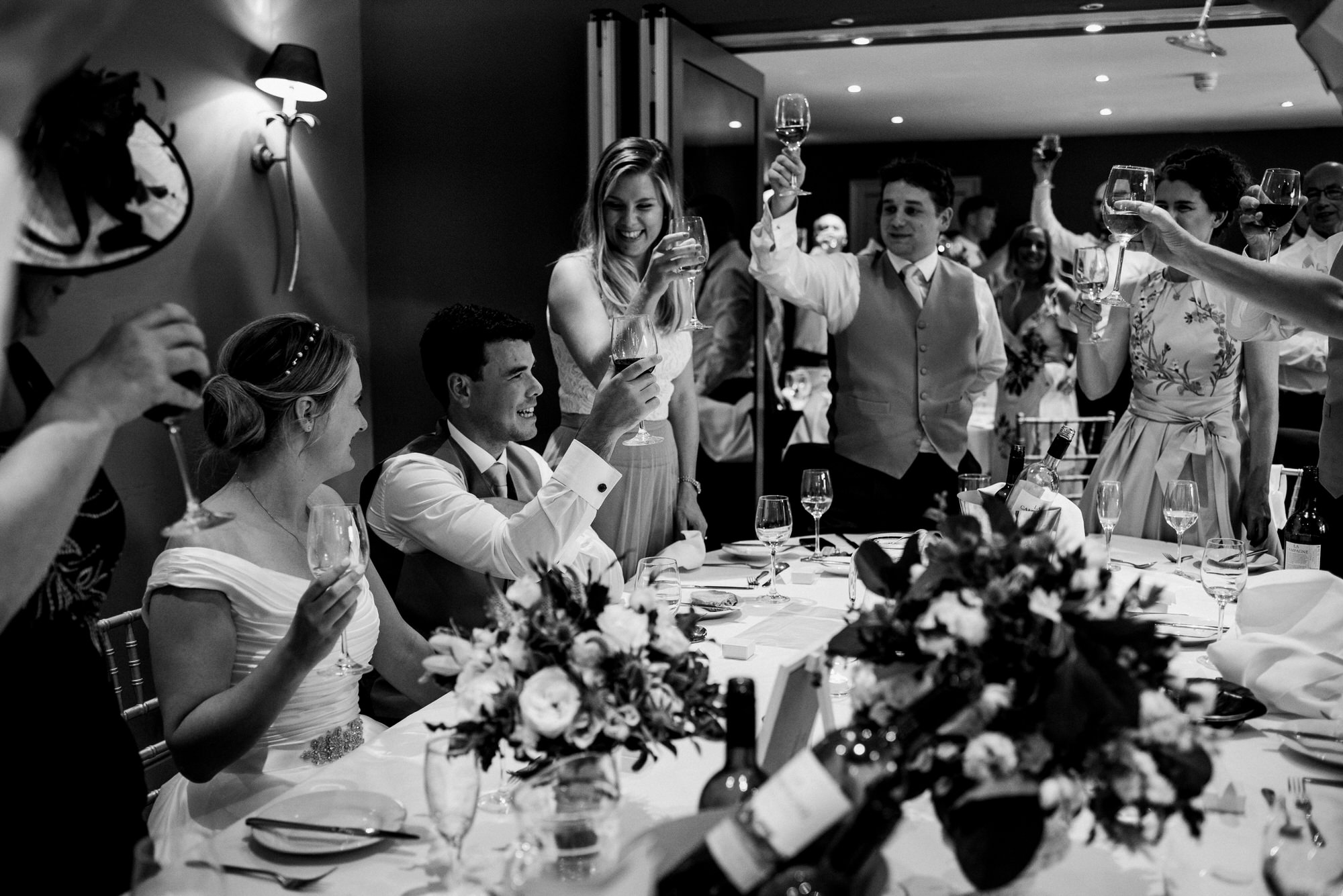 Raising a toast to newlyweds