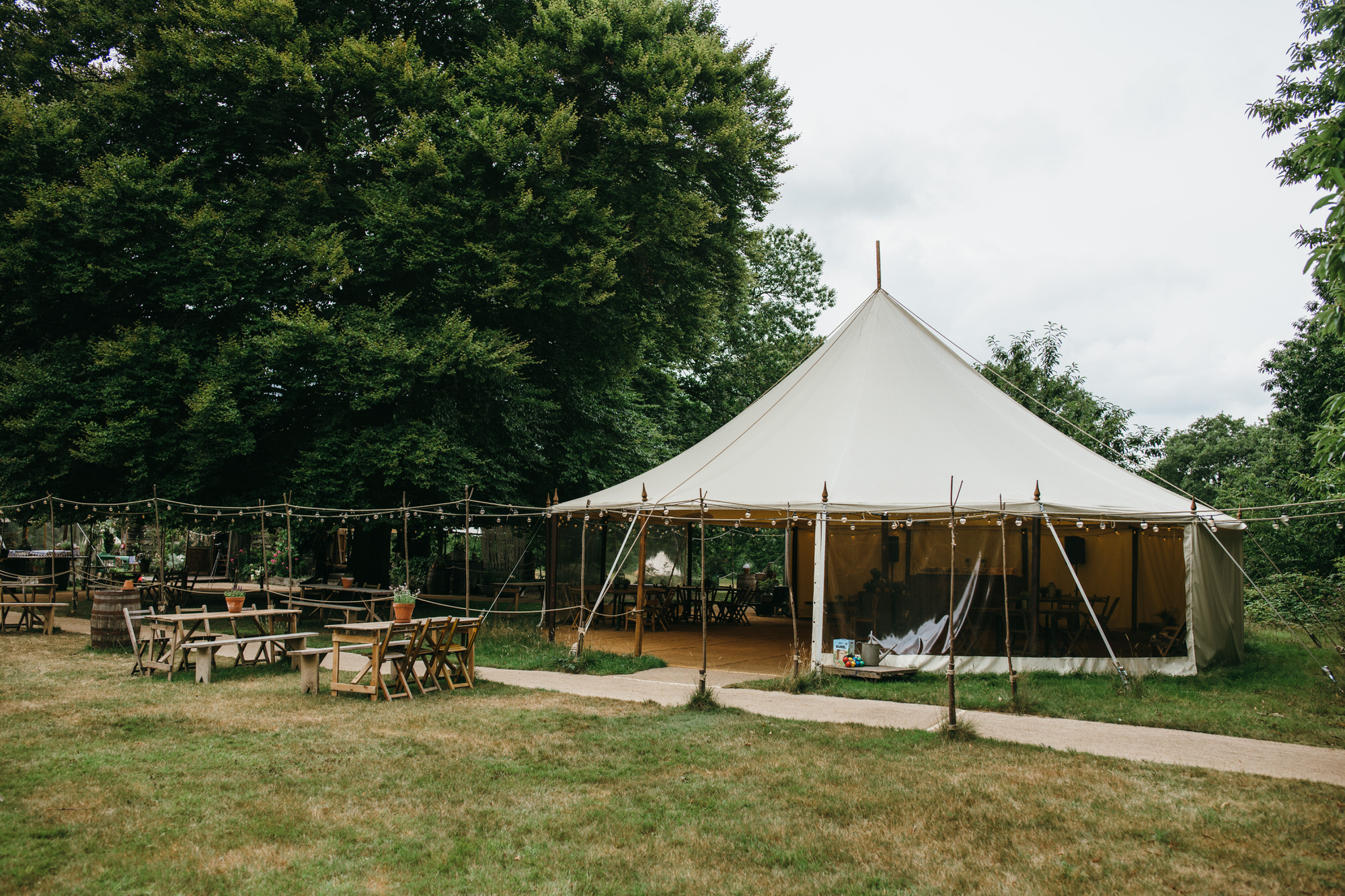 The dreys wedding marquee
