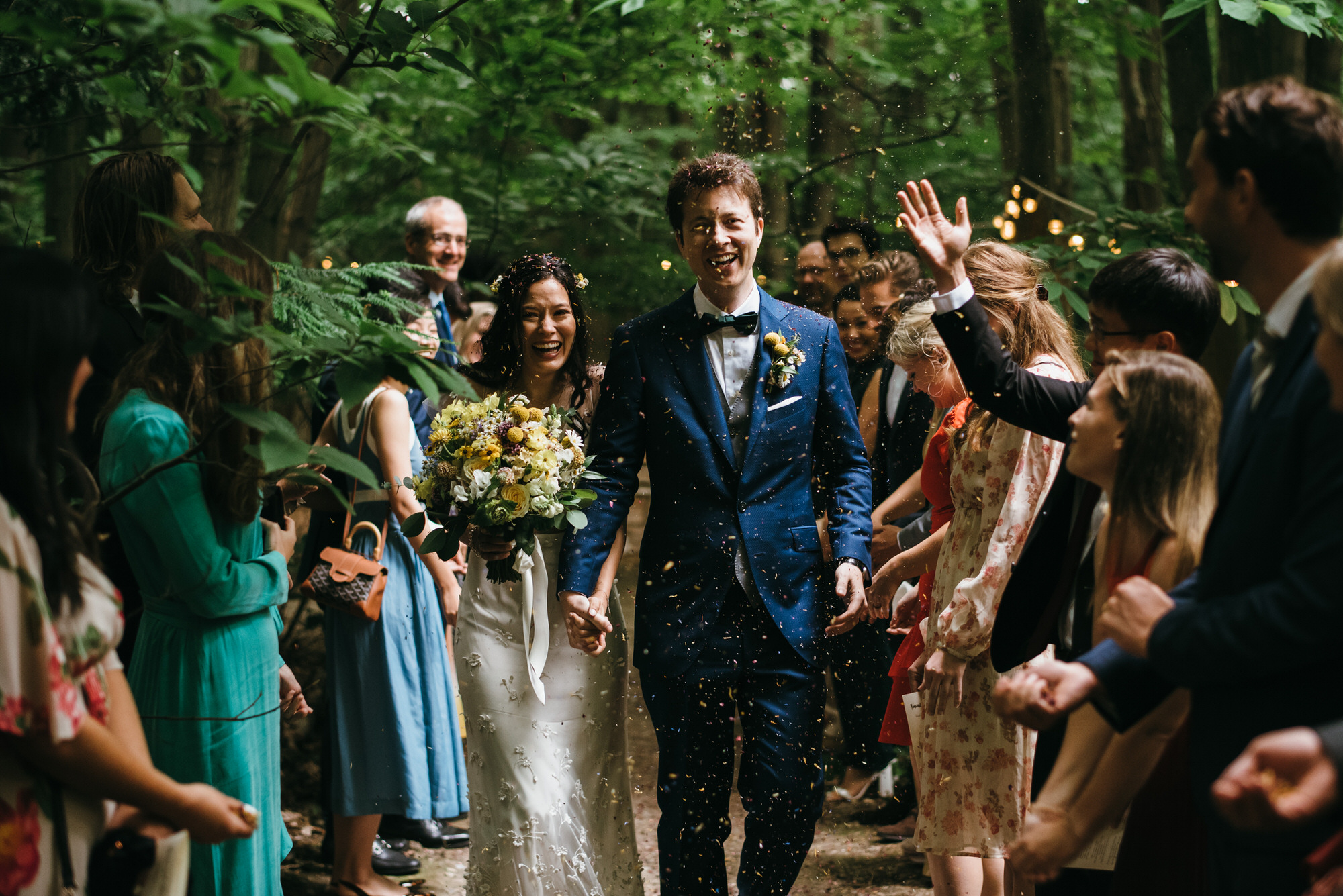 The dreys woodland wedding ceremony