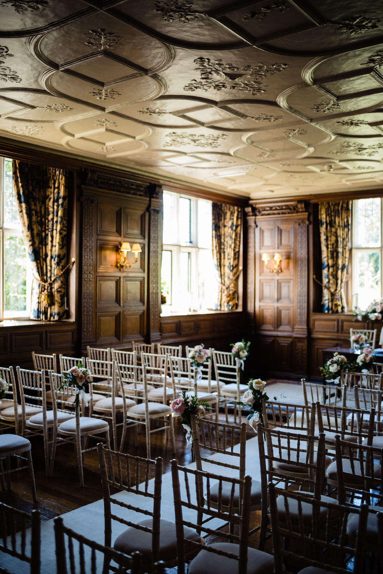 Gravetye Manor wedding ceremony room