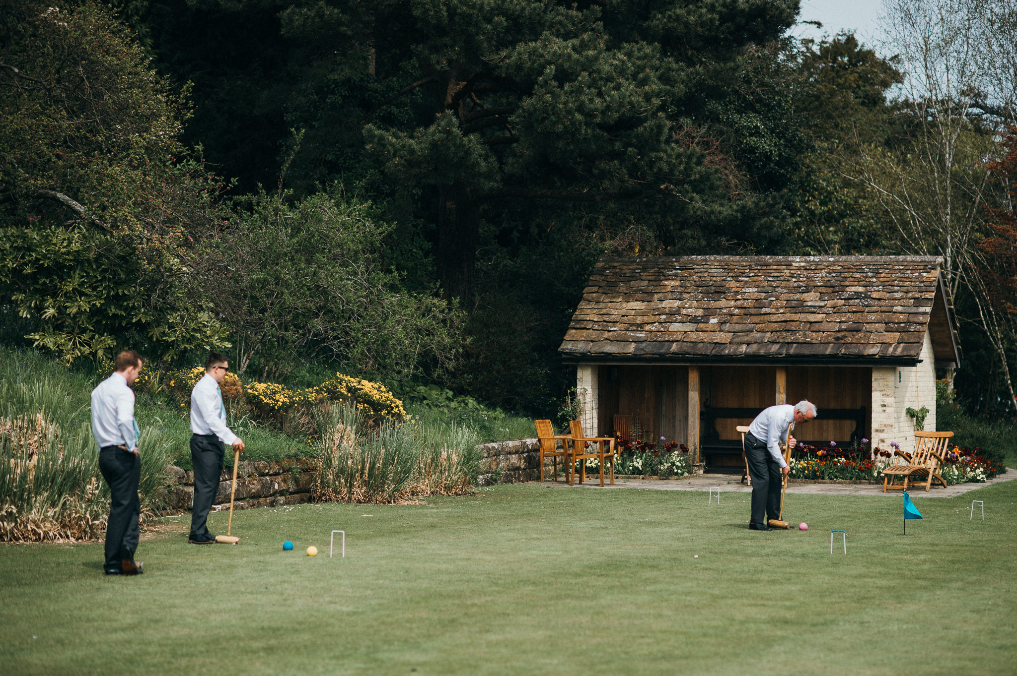 Gravetye Manor croquet lawns
