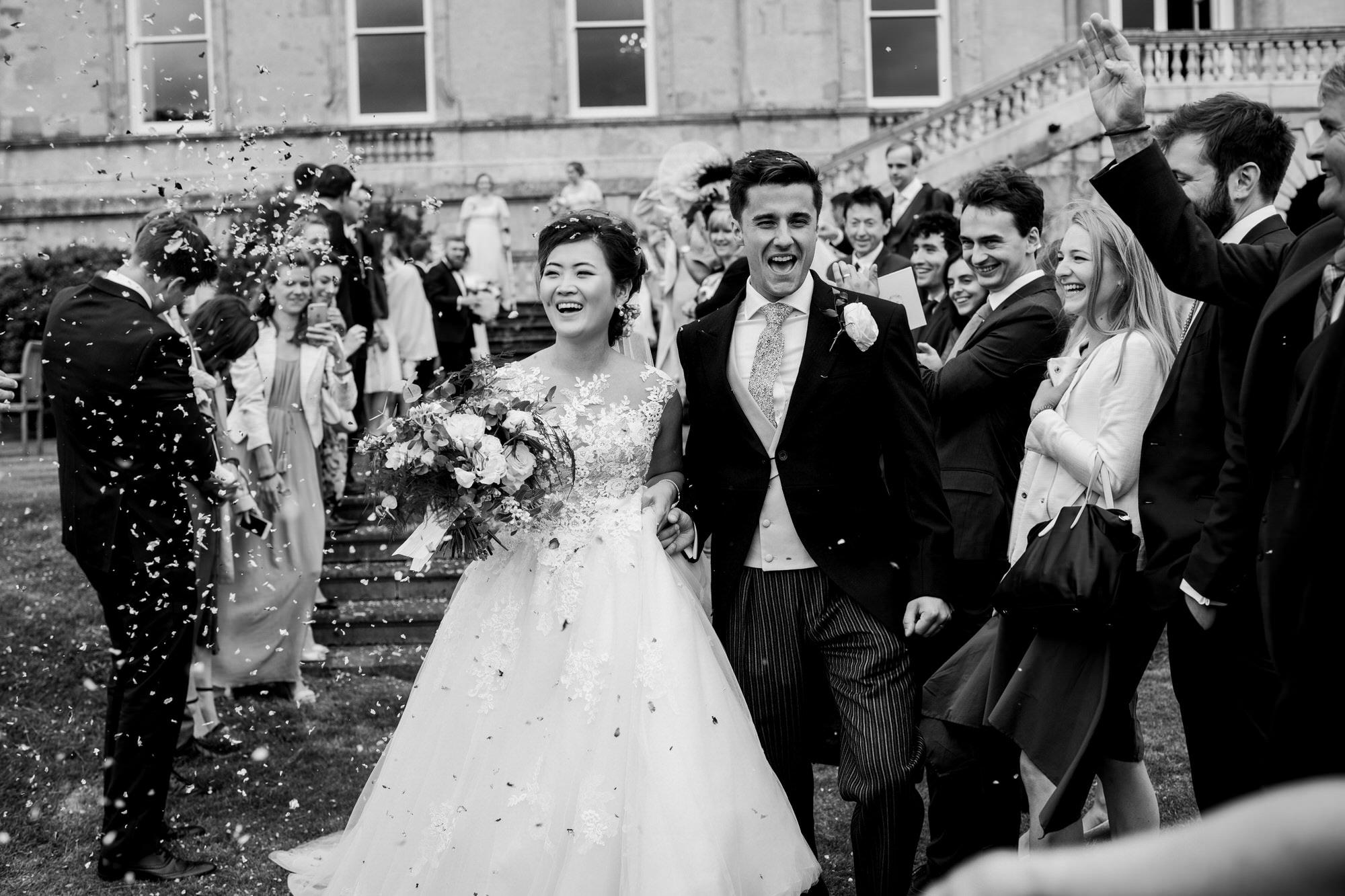 Kirtlington park wedding confetti