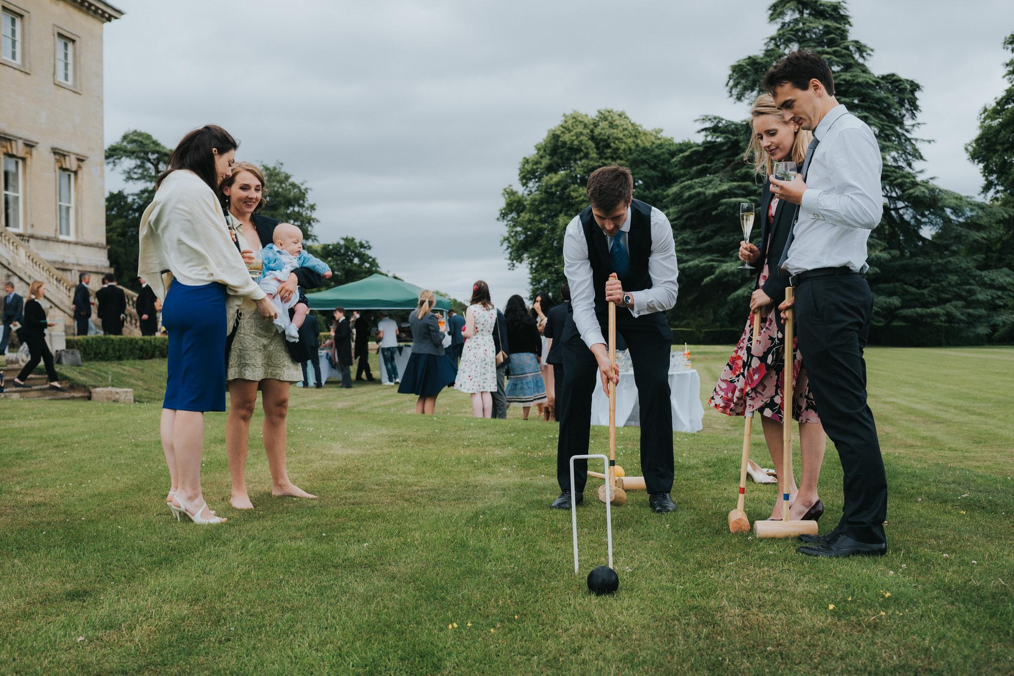 Wedding reception at Kirtlington park
