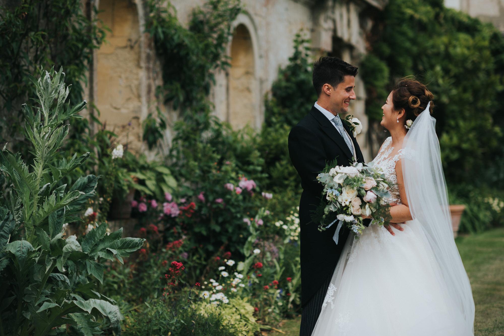Kirtlington park wedding couple