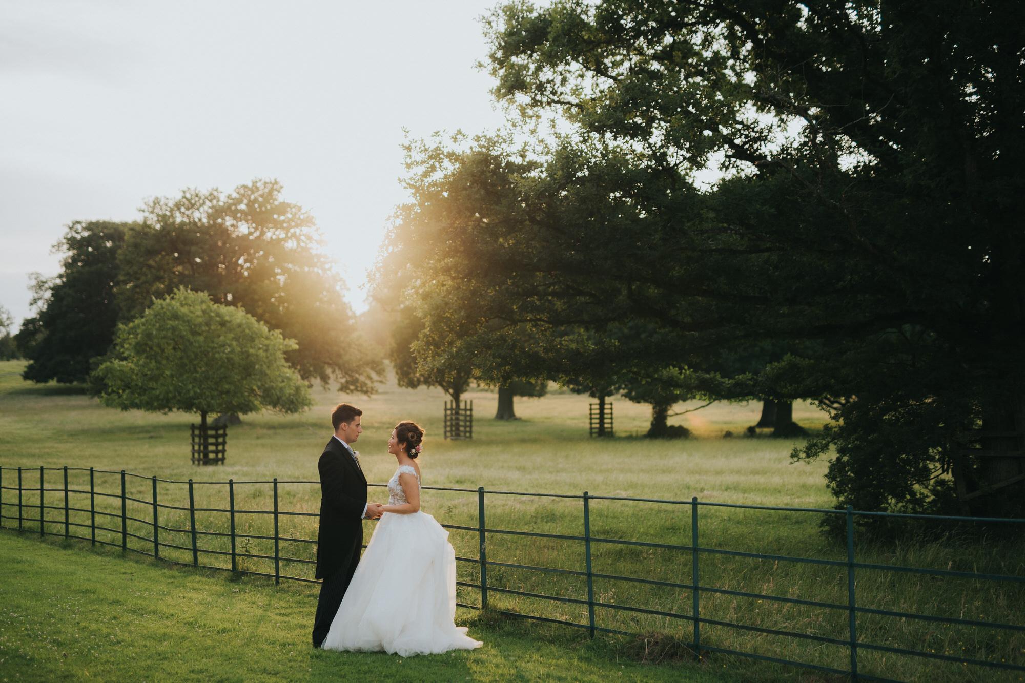 Sunset at Kirtlington park wedding