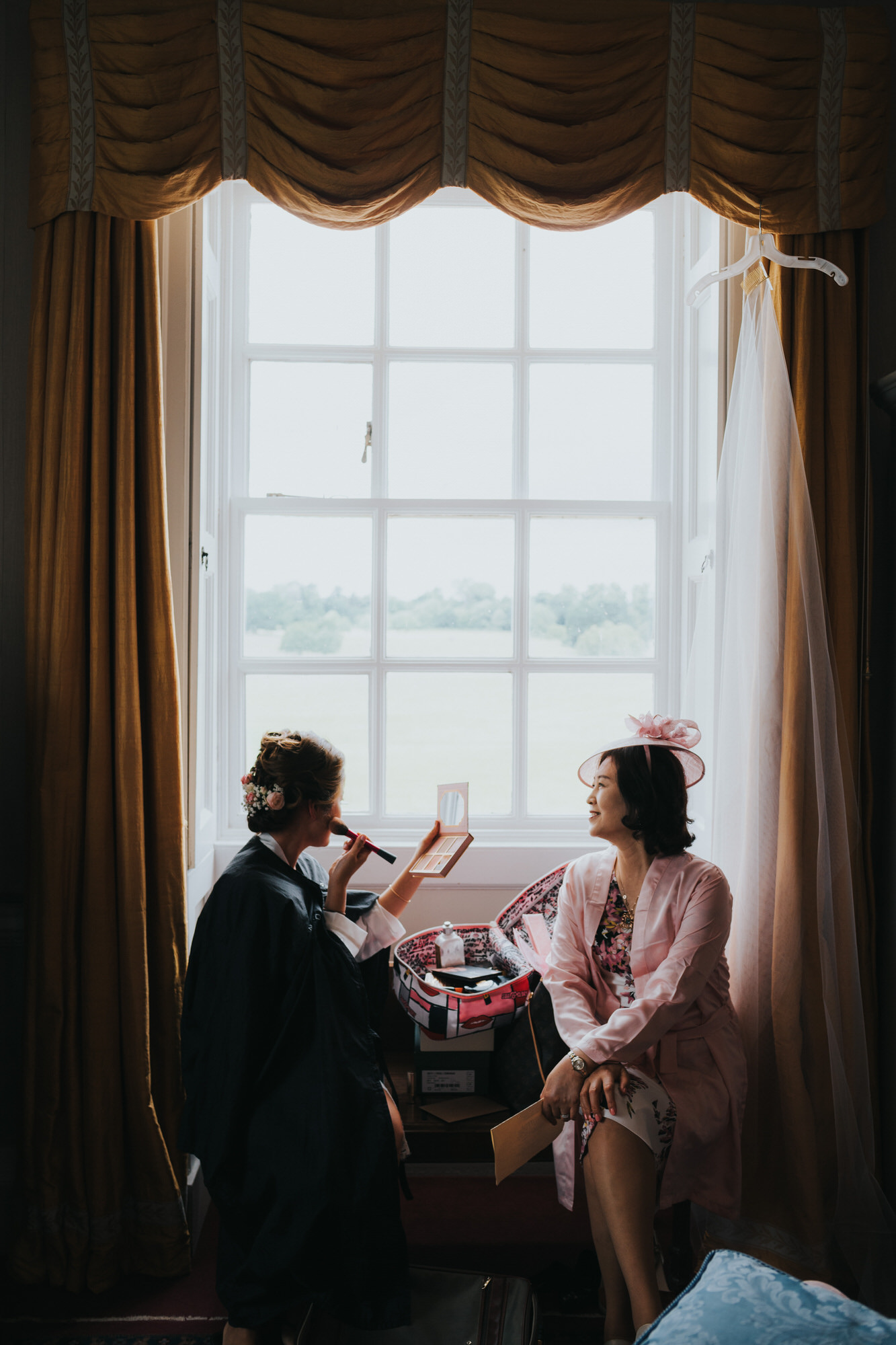 Kirtlington park bridal preparations